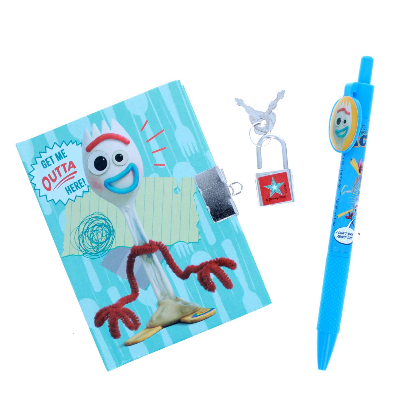 Toy Story 4 Forky Mini Diary and Pen Get Me Outta Here Set