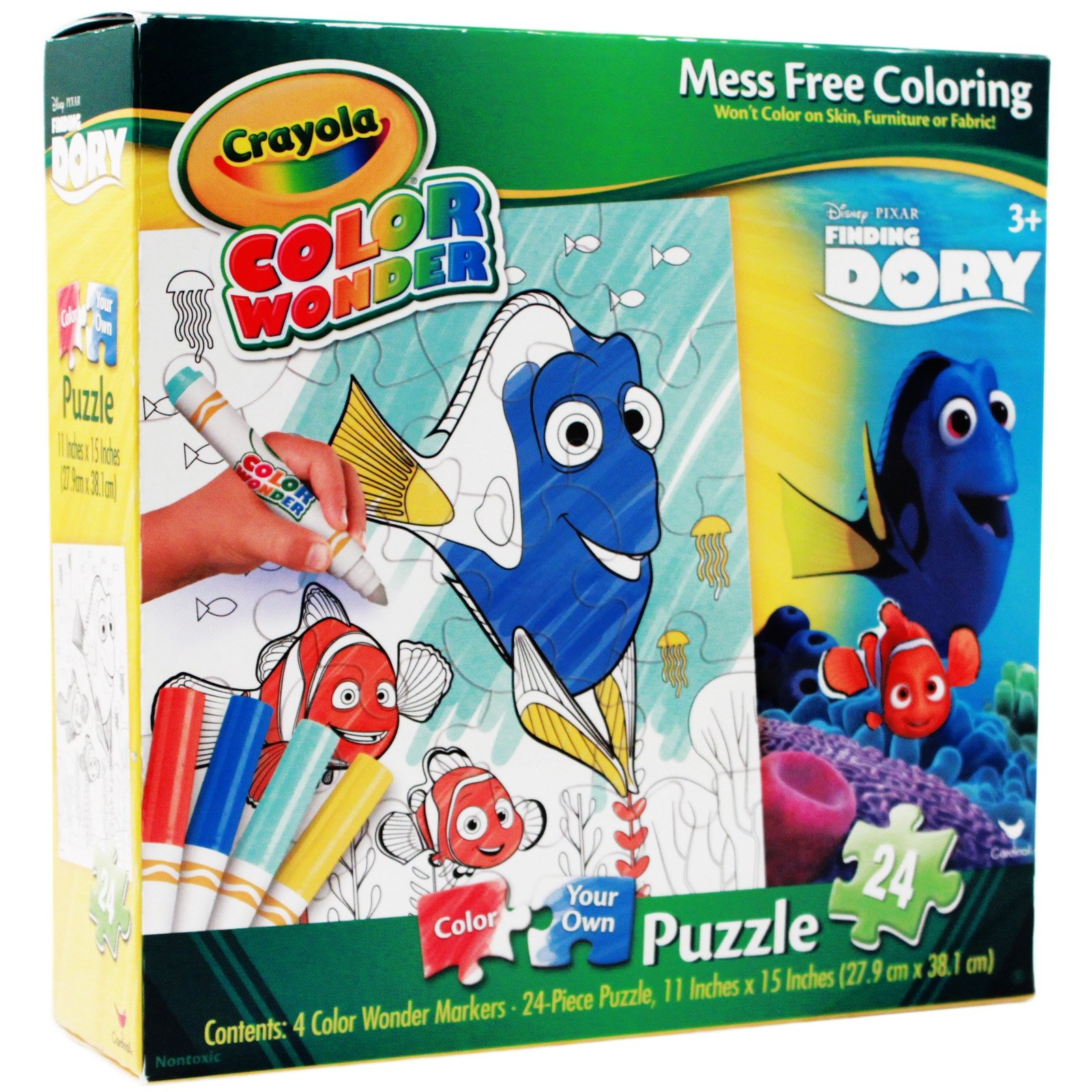 Disney Pixar Finding Dory Crayola Color Your Own Puzzle
