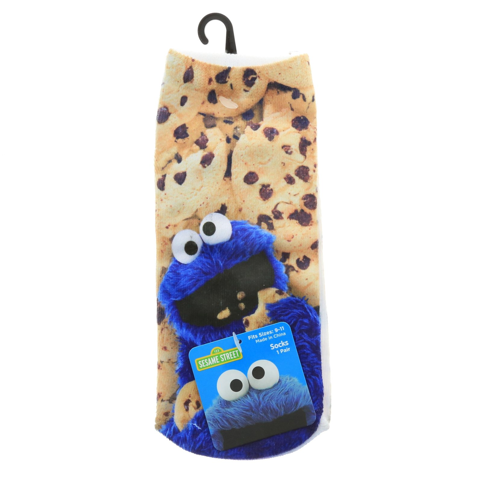 Sesame Street Cookie Monster Unisex Ankle Socks 1 Pair Size 9 - 11
