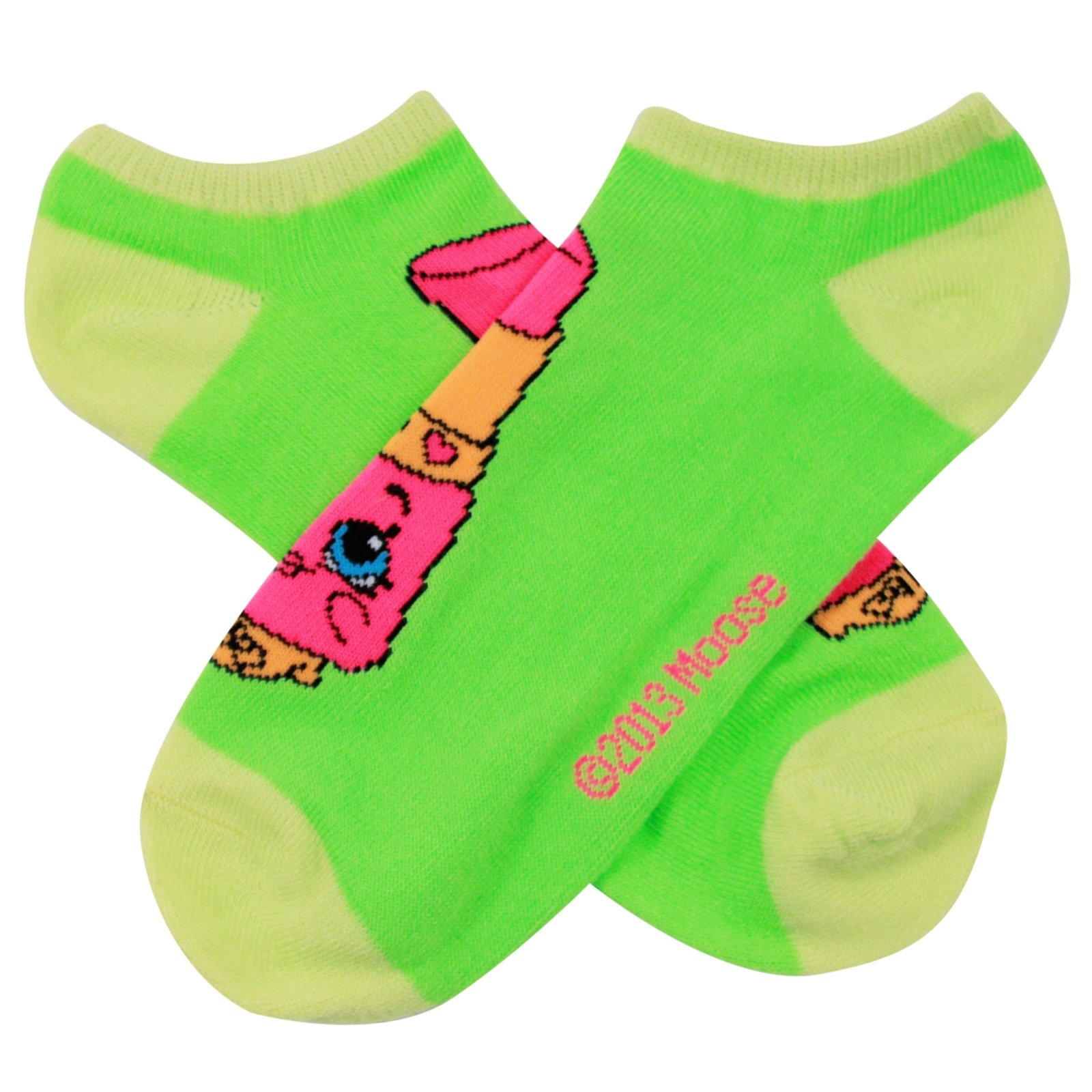 Shopkins Girls Ankle Socks Sizes 9 -11 - 1 Pair Assorted Colors