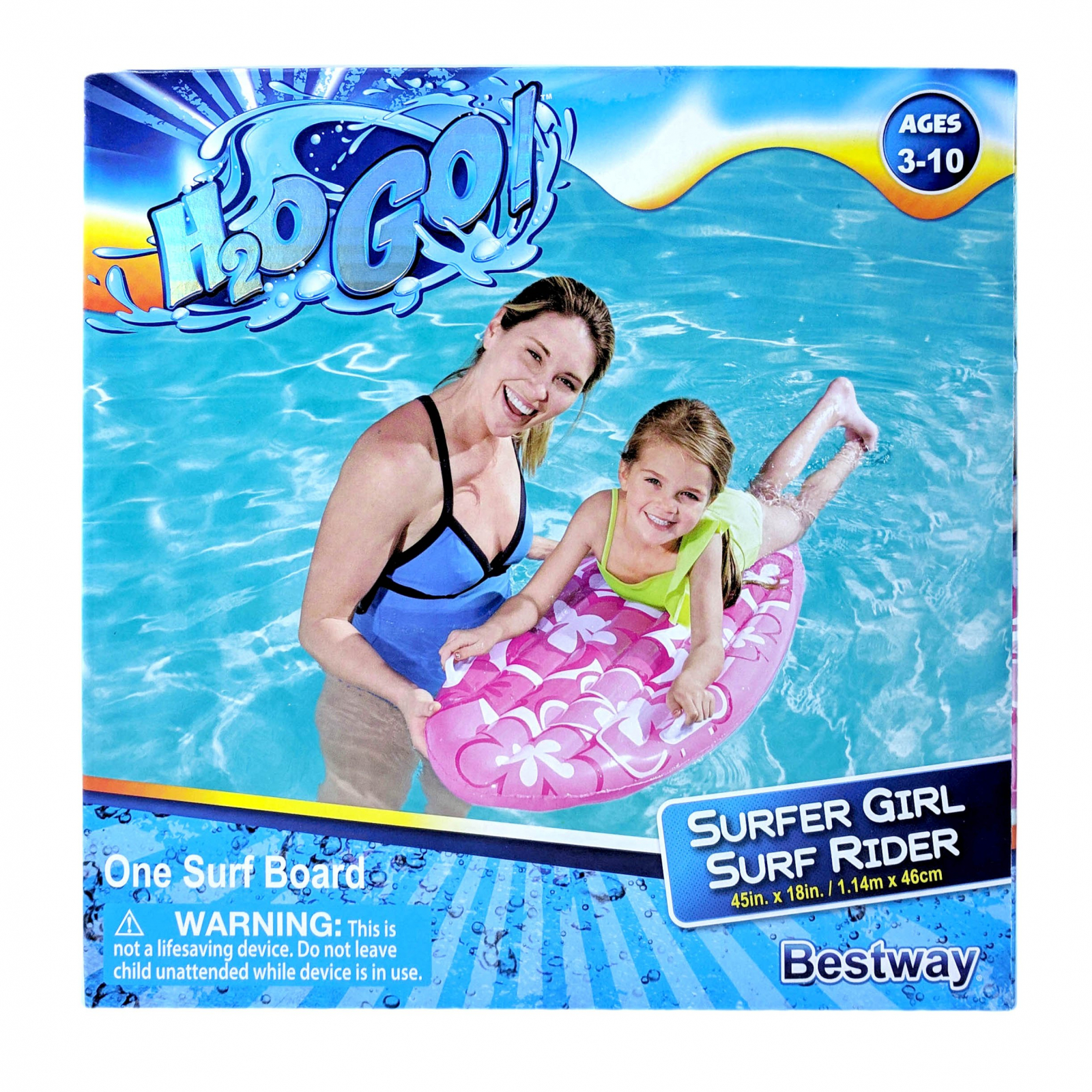Inflatable Pink Surfboard Swimming Pool Lounge Mat