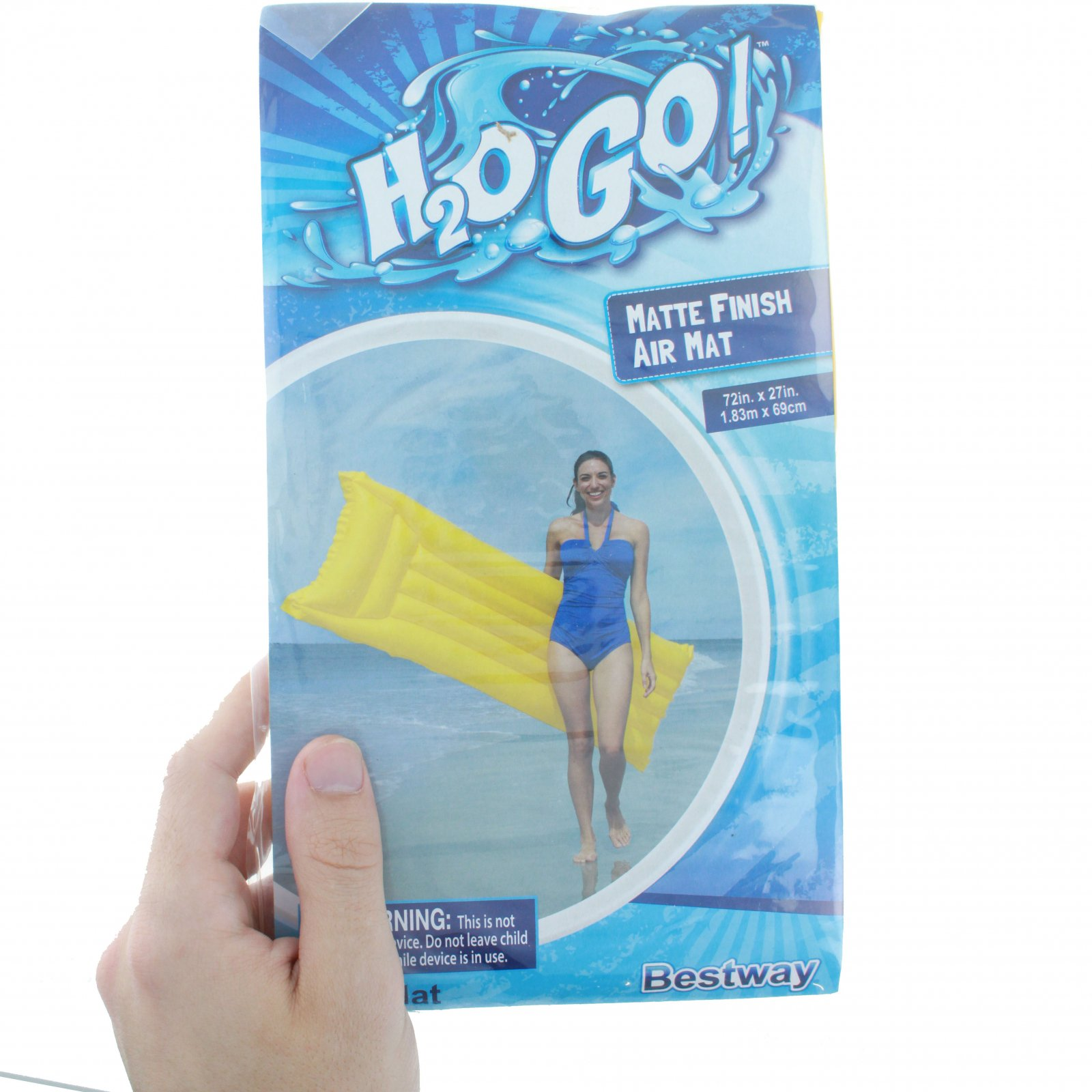 H2OGO! Matte Finish Air Mat Inflatable Pool Float - Yellow