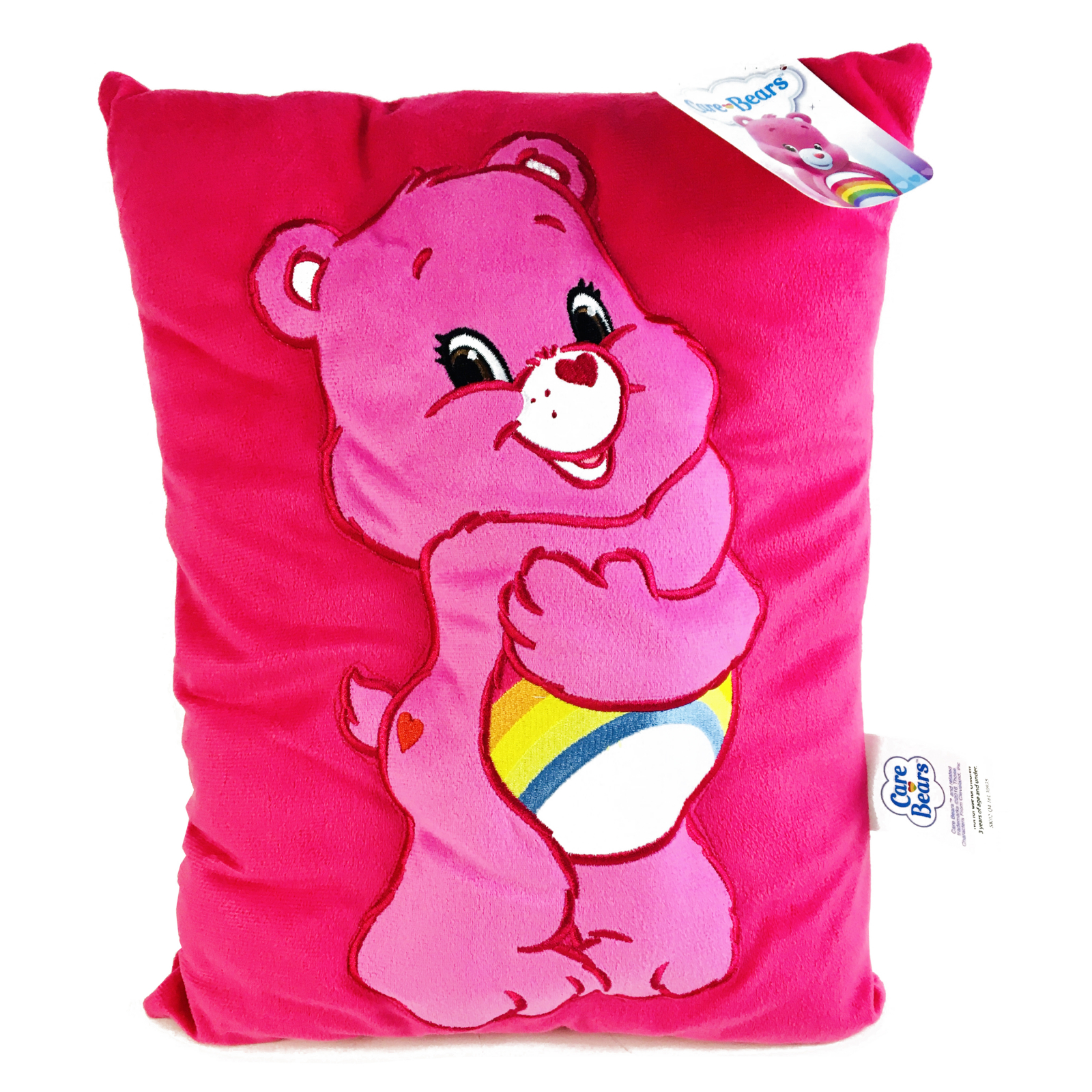 Care Bears Cheer Bear Kids Decorative 3D Plush Cuddle Pillow