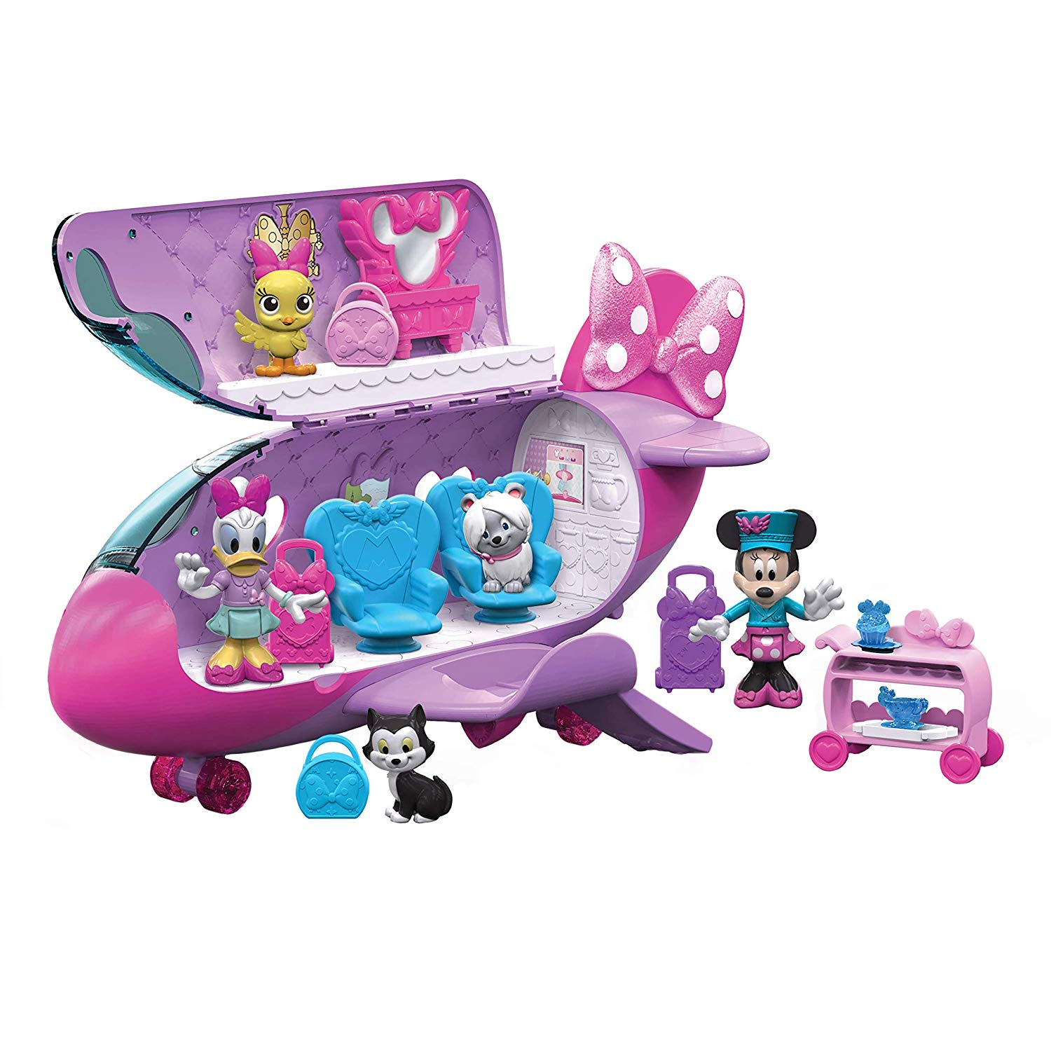Disney Minnie Mouse Girls Bow Liner Jet Toy Plane Gift Set