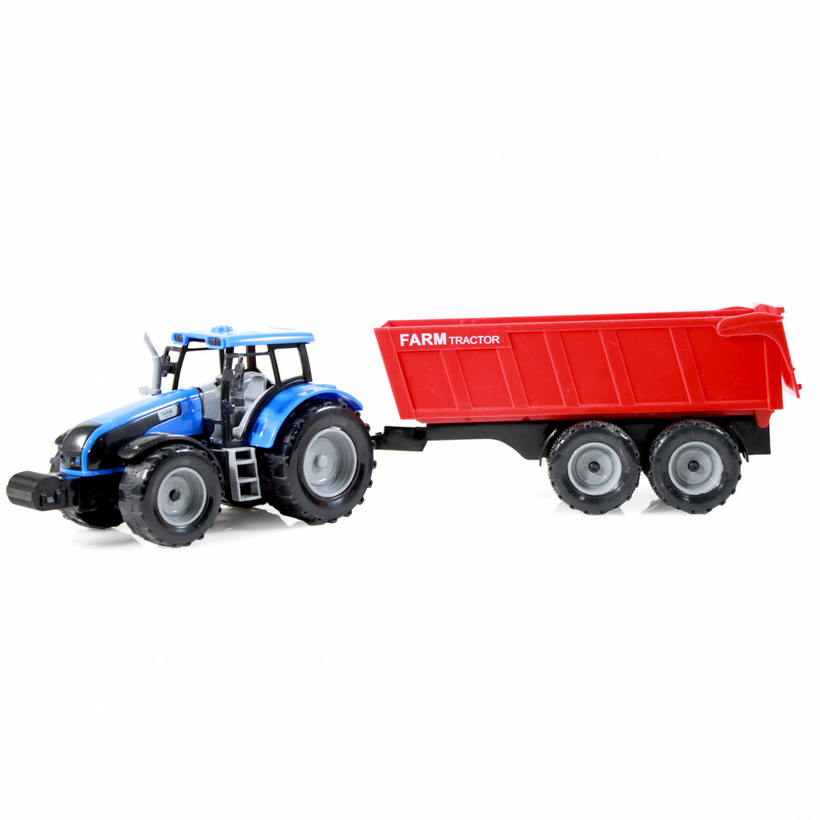 TychoTyke Kids Friction Powered Farm Tractor Toy Dump Truck