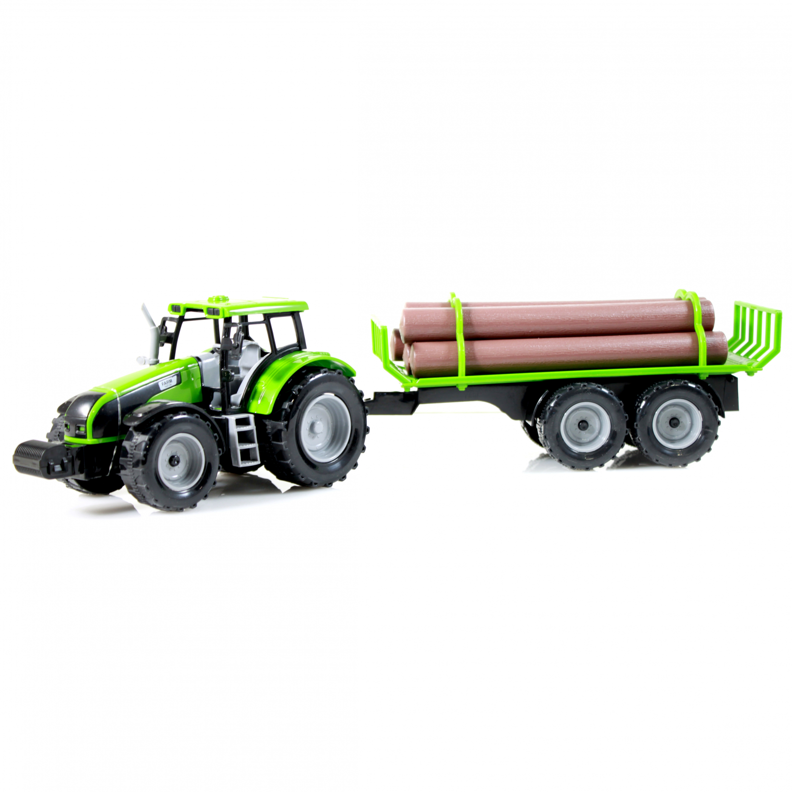 TychoTyke Kids Friction Powered Farm Tractor Toy Logging