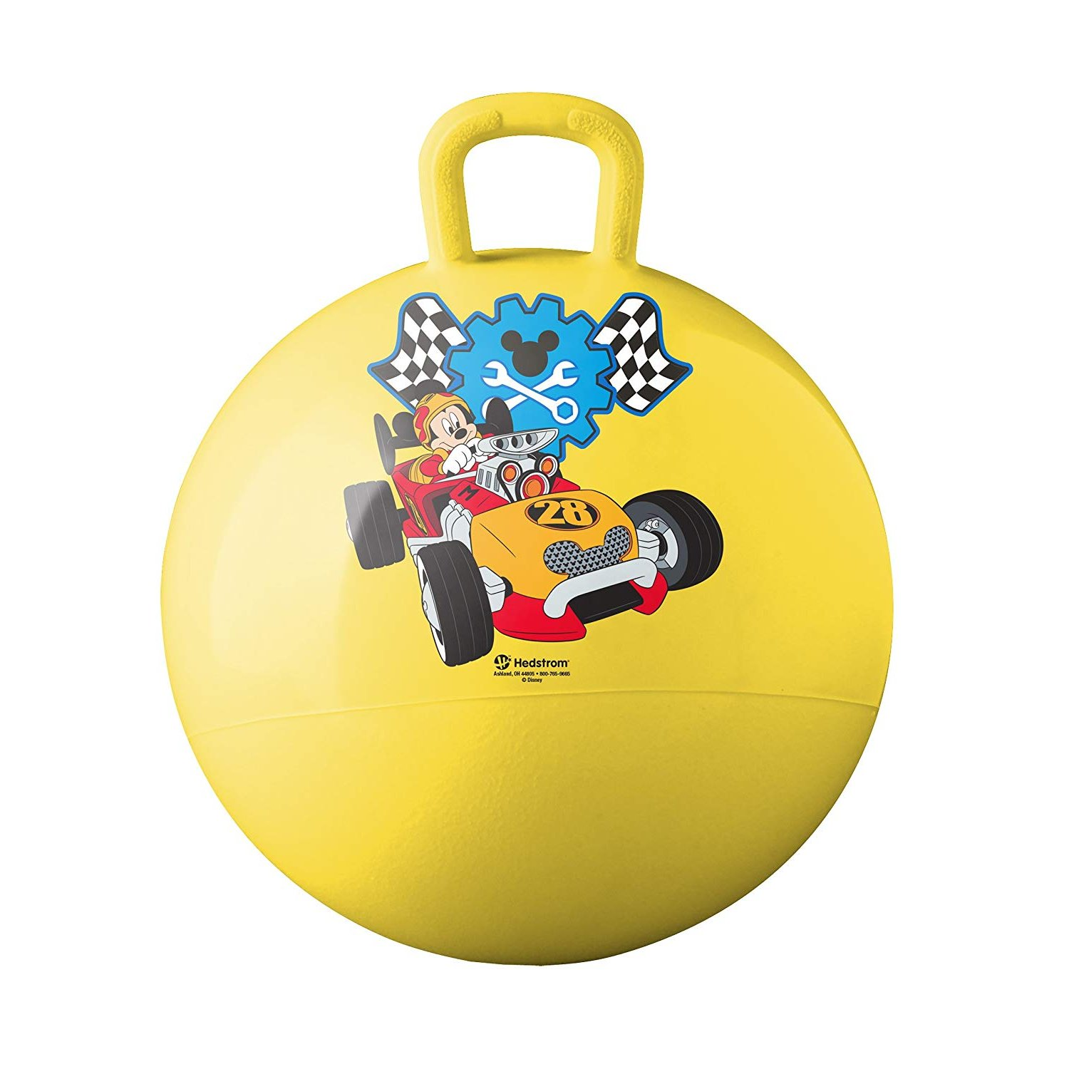 """Hedstrom Mickey/Roadster Racers 15"""" Hop, Yellow"""