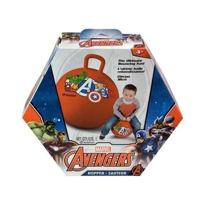 Marvel Avengers Kids Ride On Hopper Ball Exercise Toy Bouncing Fun - Red
