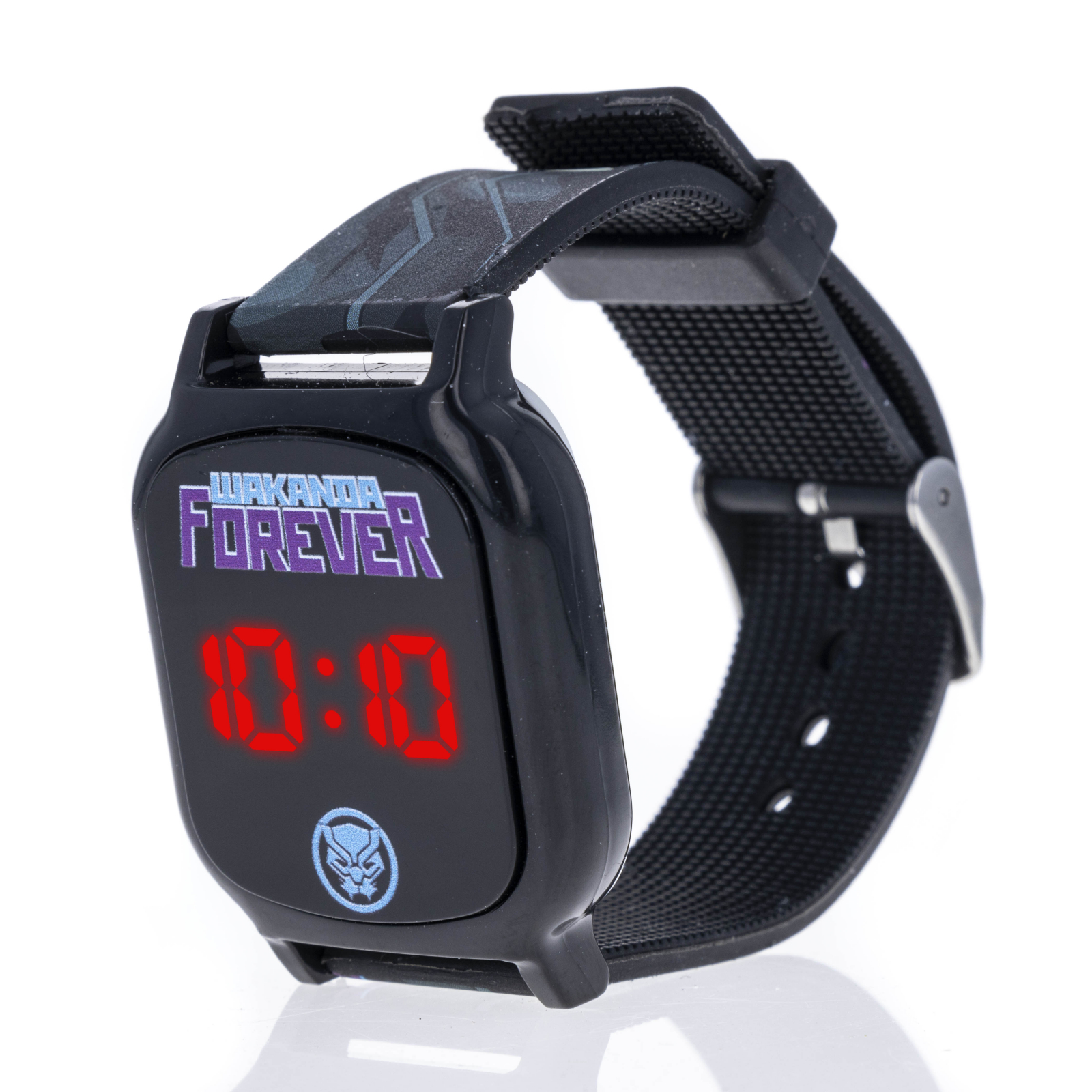 Licensed Black Panther LED Display Digital Touch Screen Watch