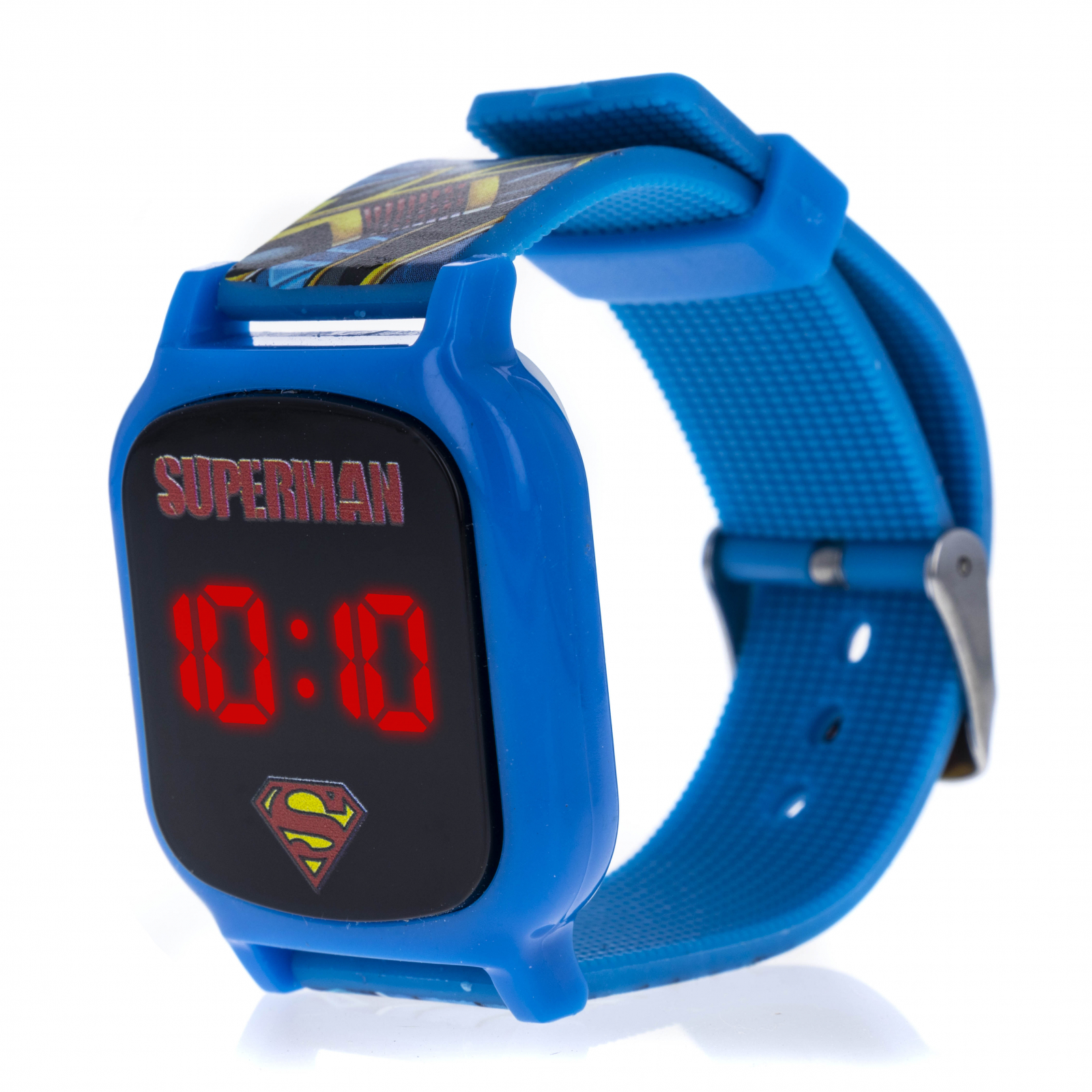 Licensed Superman LED Display Digital Touch Screen Watch