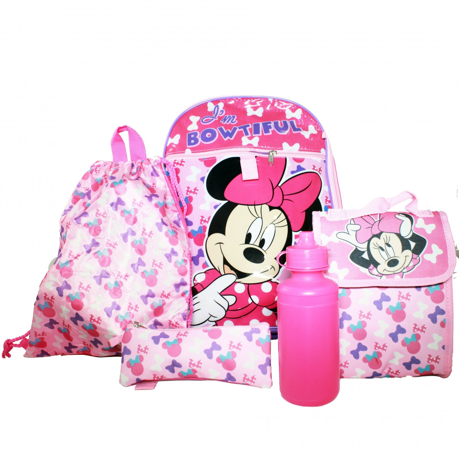 b58c009e736 Minnie Mouse 5-Piece Backpack Set
