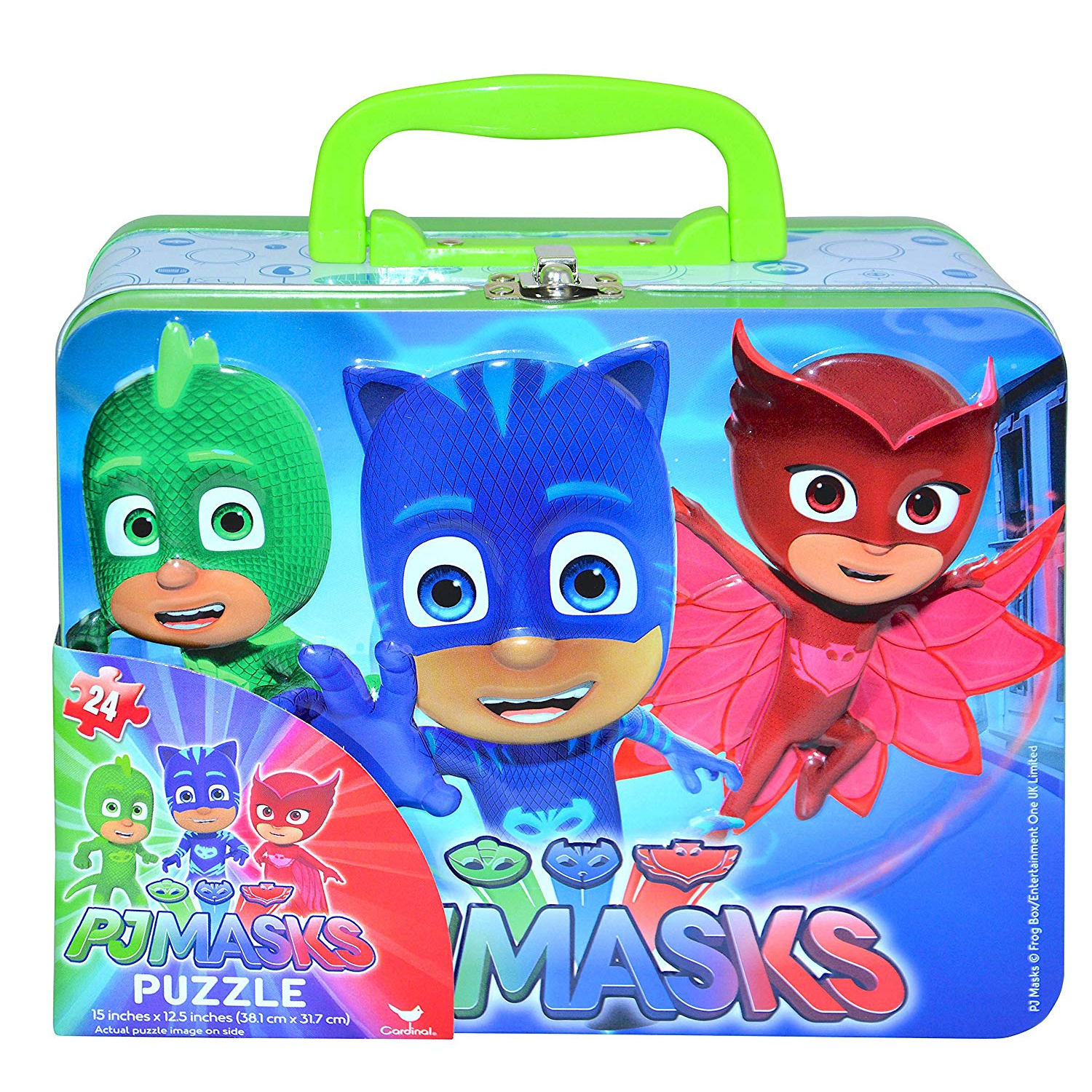 PJ Masks Lunchbox Tin With 24 Piece Puzzle Set
