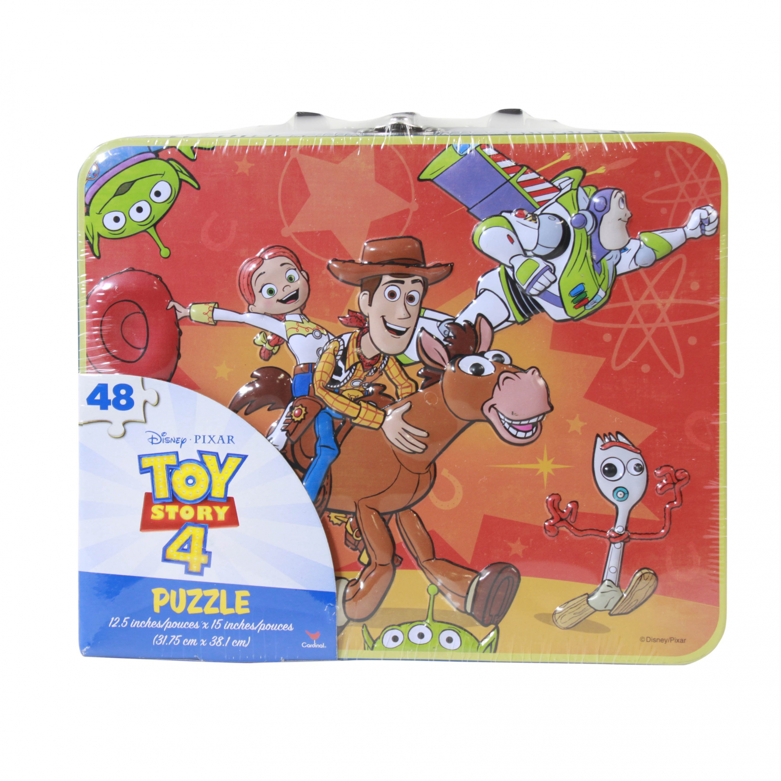 Disney Toy Story 4 Woody Buzz Jessie Forky Puzzle Lunch Box