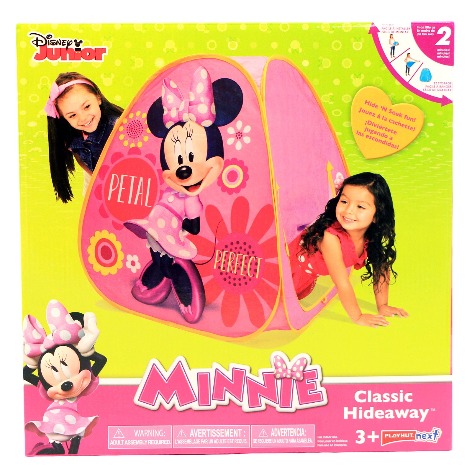 Disney Minnie Kids Indoor Creative Play Hideaway Fort Building Playhut
