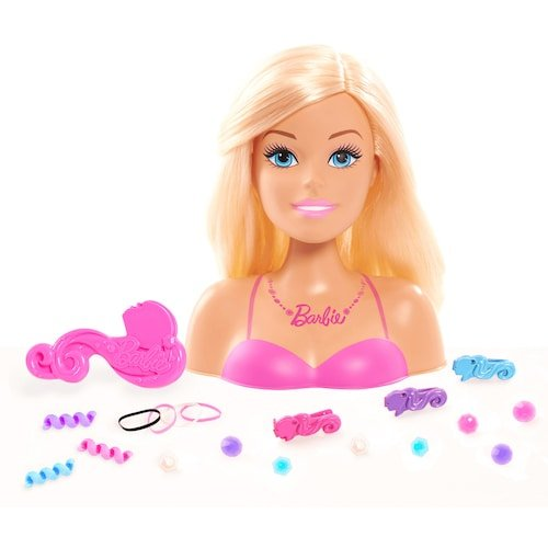 Barbie 20pc Hair Styling Head Doll with Barrettes
