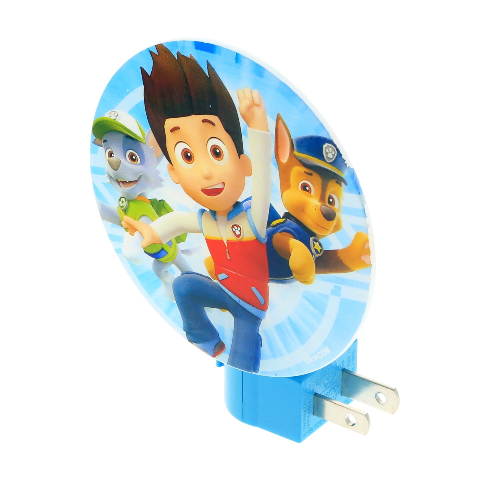 Nickelodeon Paw Patrol Boys Night Light Kids Bedroom Home Decor - Blue