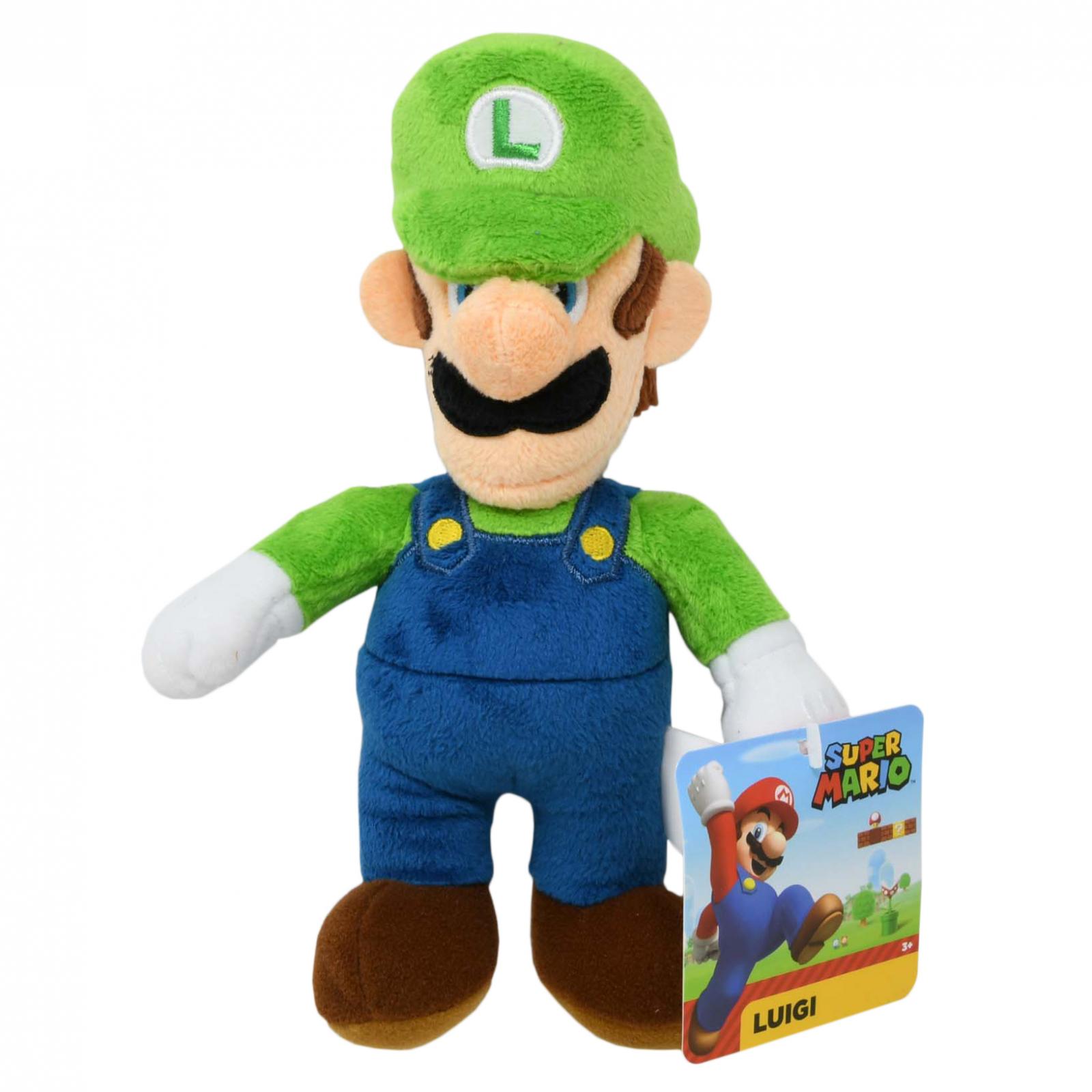 World of Nintendo Super Mario Plush Toy 7.5 Inch Luigi