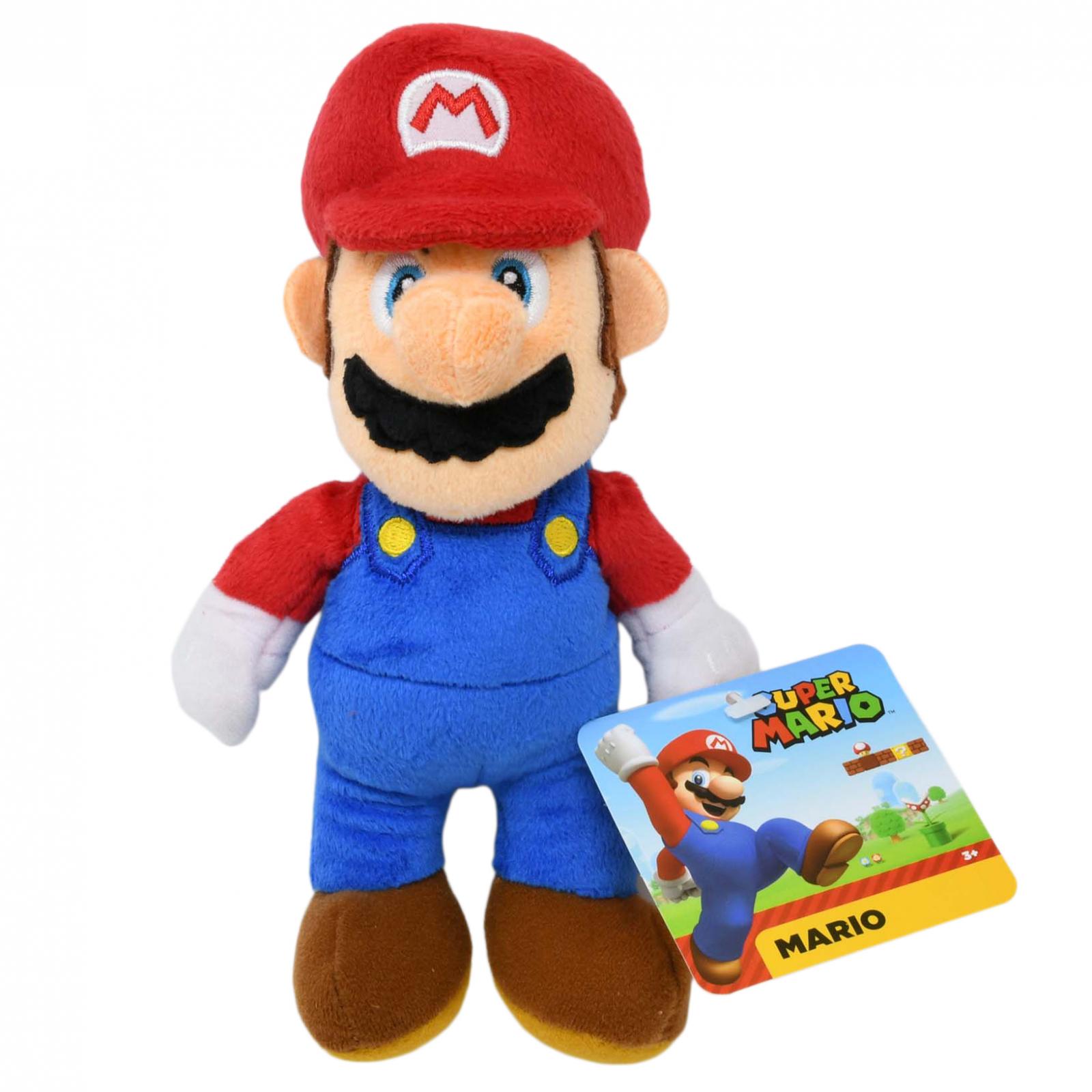 World of Nintendo Super Mario Plush Toy 7.5 Inch Classic Mario