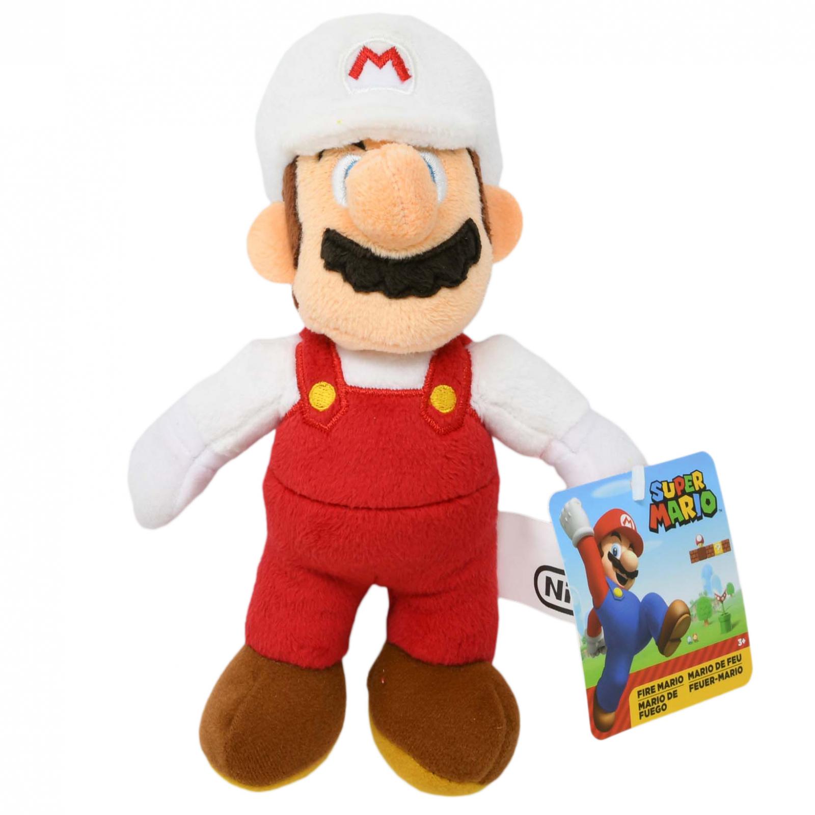 World of Nintendo Super Mario Plush Toy 7.5 Inch Fire Mario