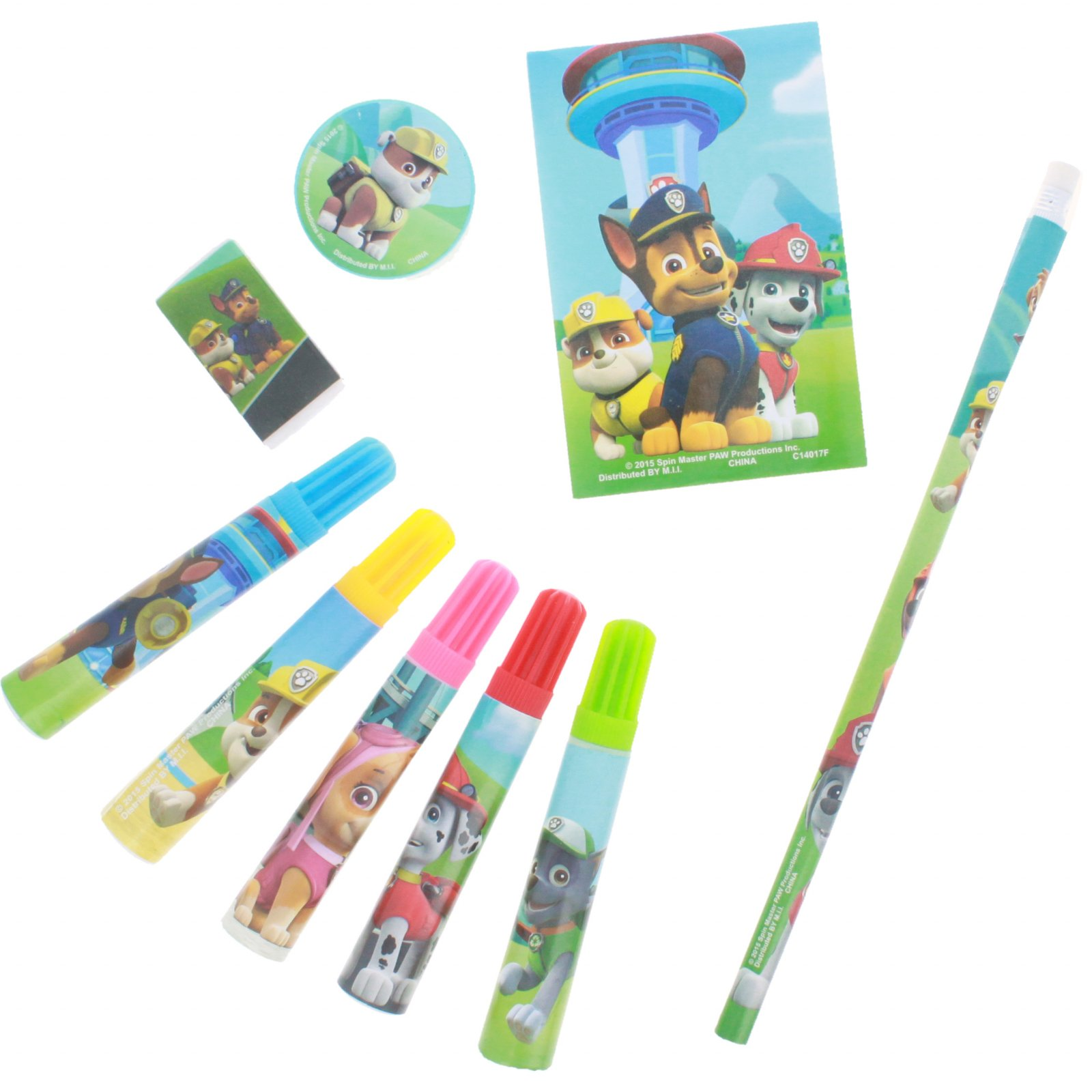 Nickelodeon Paw Patrol Kids Stationery Set Pencils Markers Eraser Party Favors