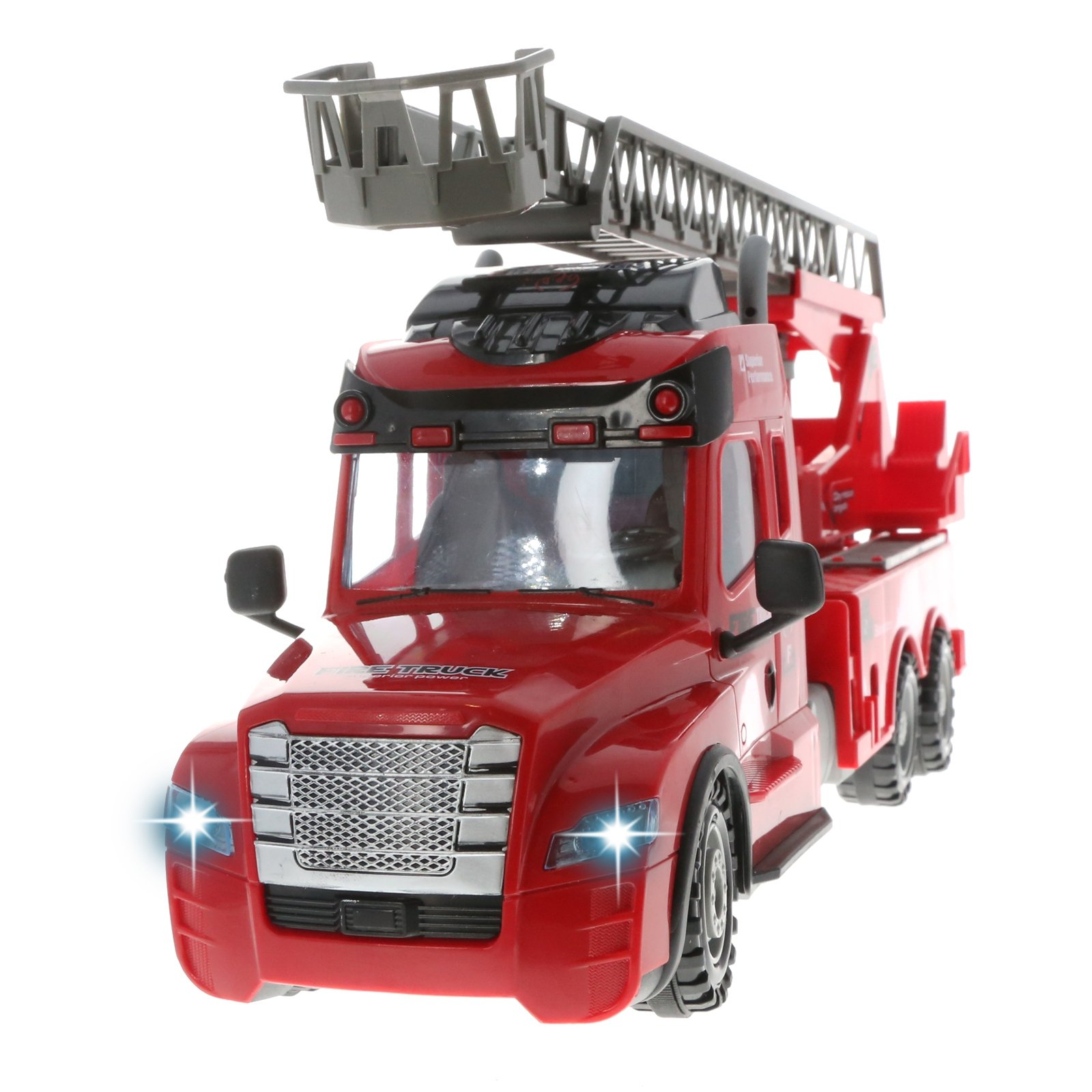KidFun Fire Engine Light up Remote Control RC Fire Truck, Ages 3-12
