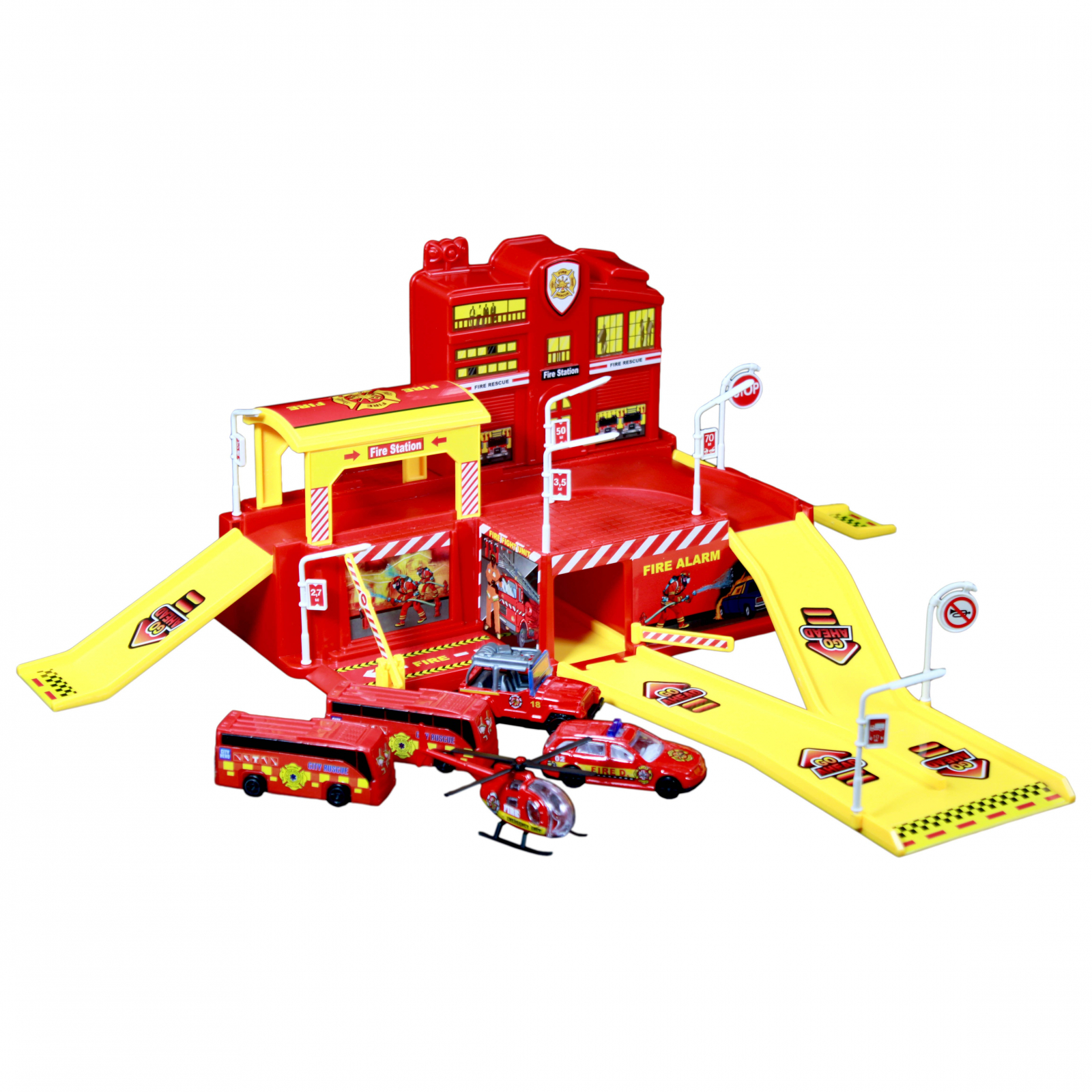 TychoTyke Fire Station Action Parking Garage Play Set Toys