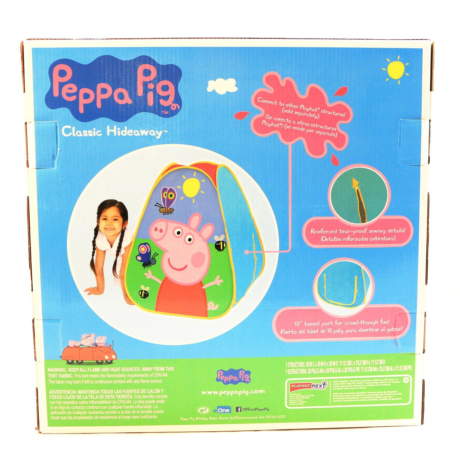 Peppa Pig Kids Indoor Creative Play Hideaway Fort Building Playhut