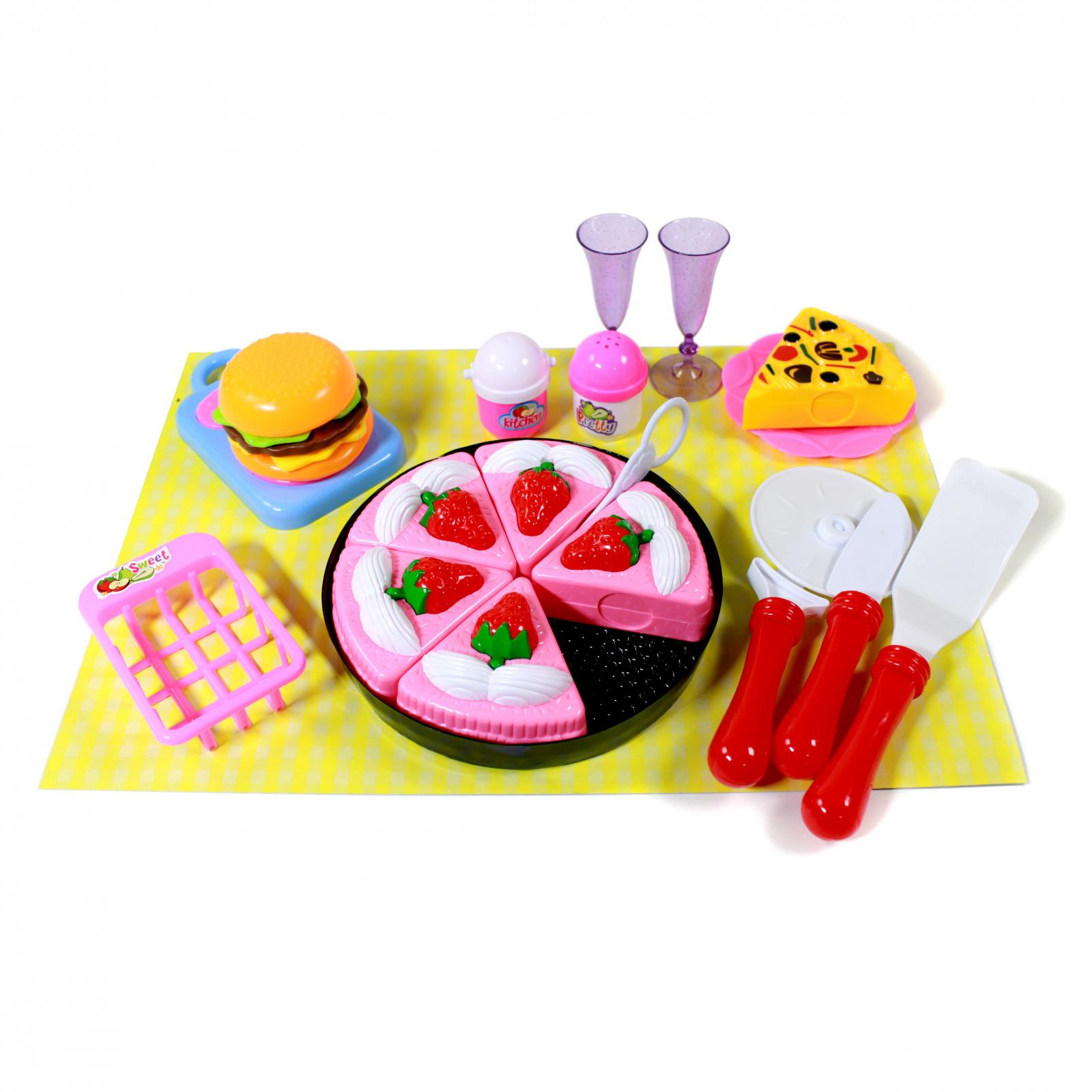Kidfun Pretend Play Kitchen Playhouse Chef Set - Cake