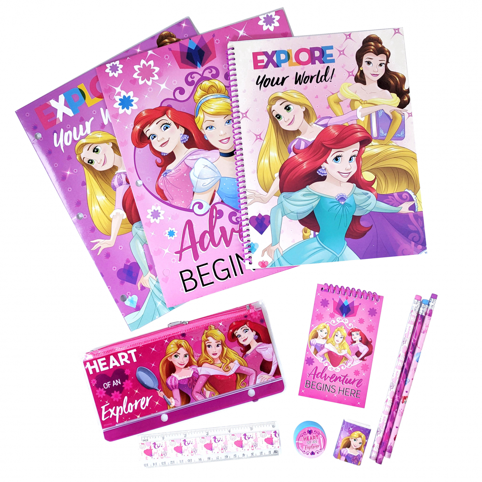 Disney Princess Girls Stationery Set 11 Pieces