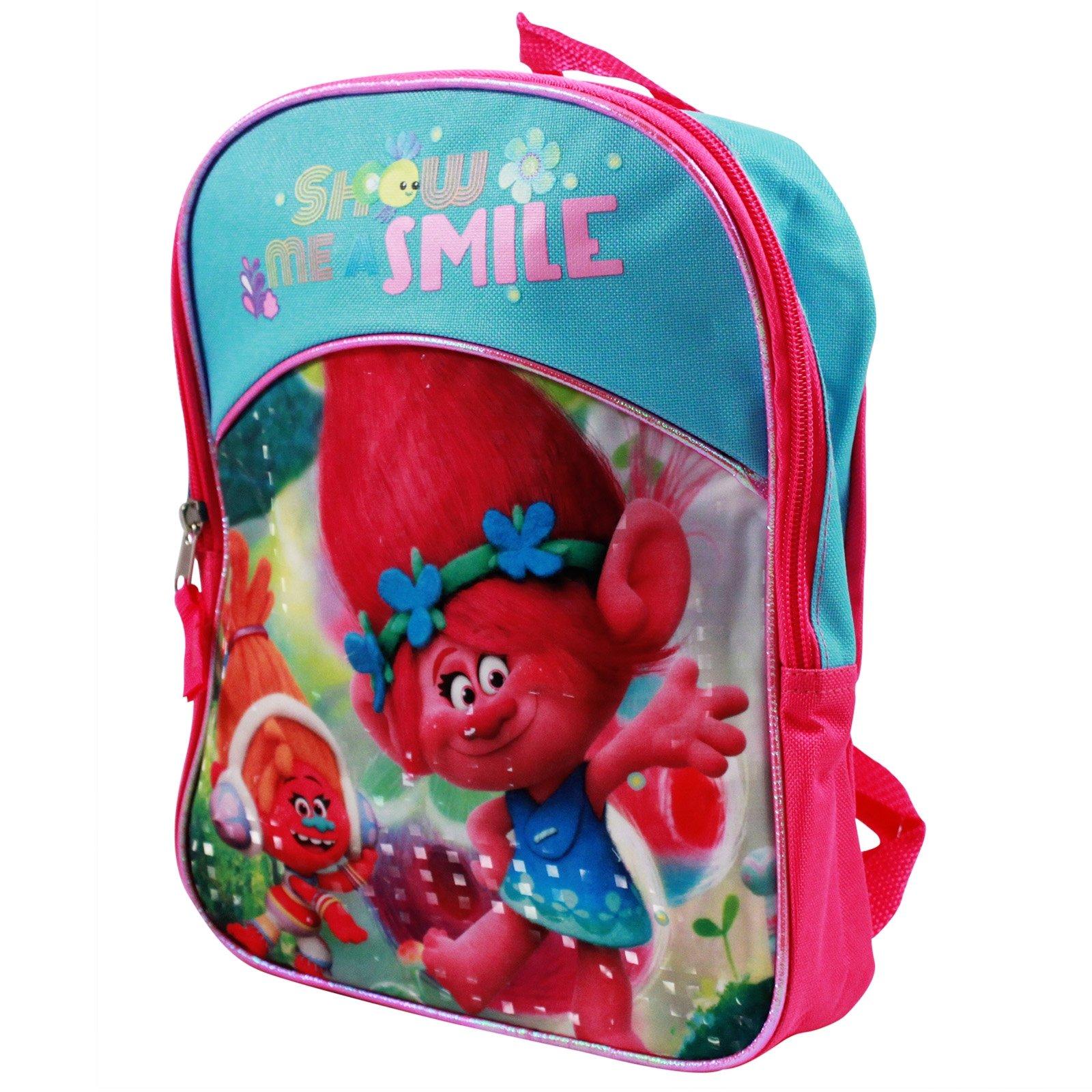 Dreamworks Trolls Princess Poppy and DJ Suki Show me a Smile Girls Backpack