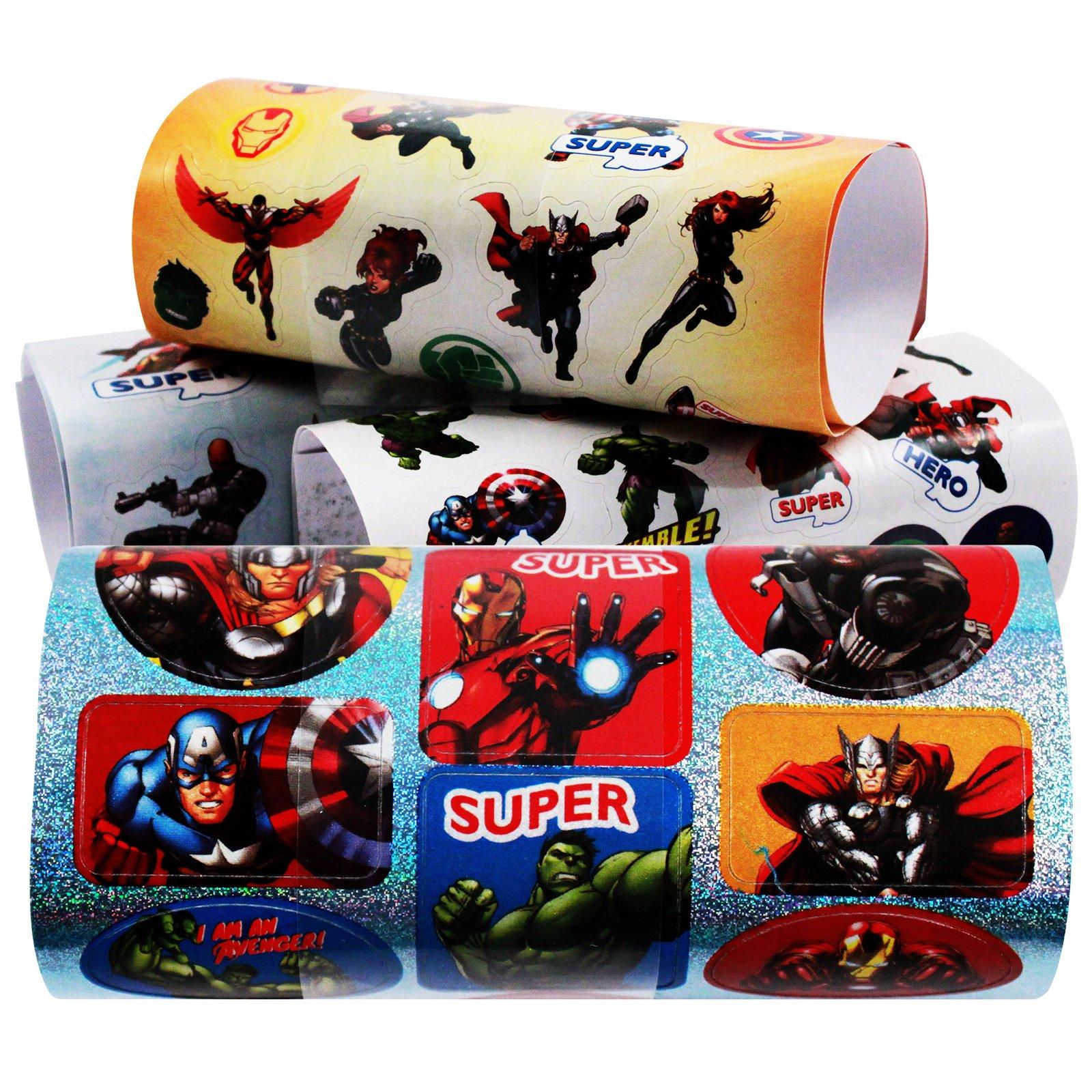 743pc Marvel Avengers Themed Sticker Mania Kids Art Supplies Crafting Set