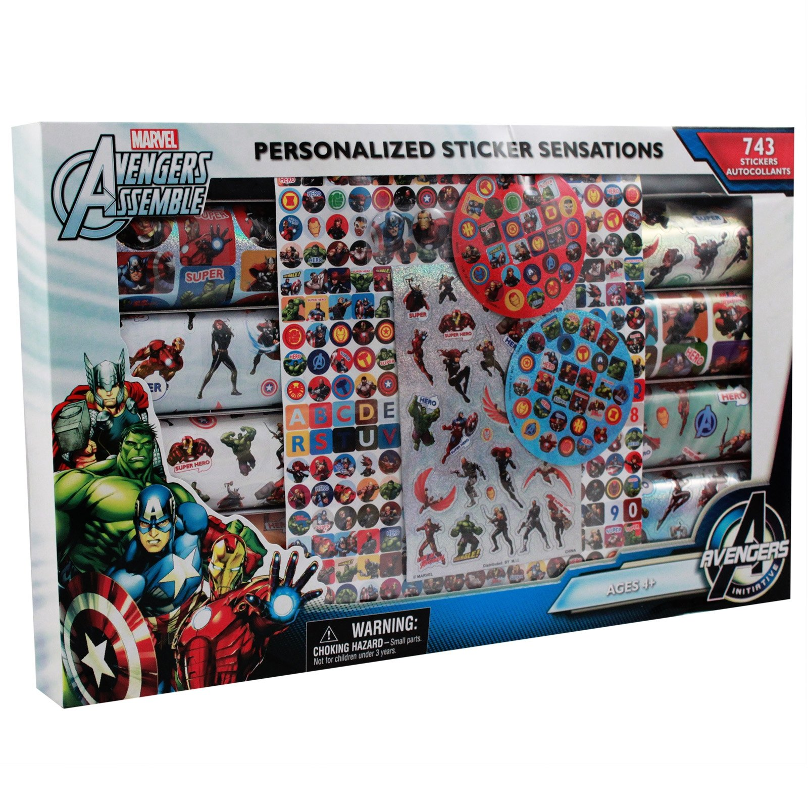 743pc Marvel Avengers Themed Sticker Mania Kids Art Supplies Crafting Set