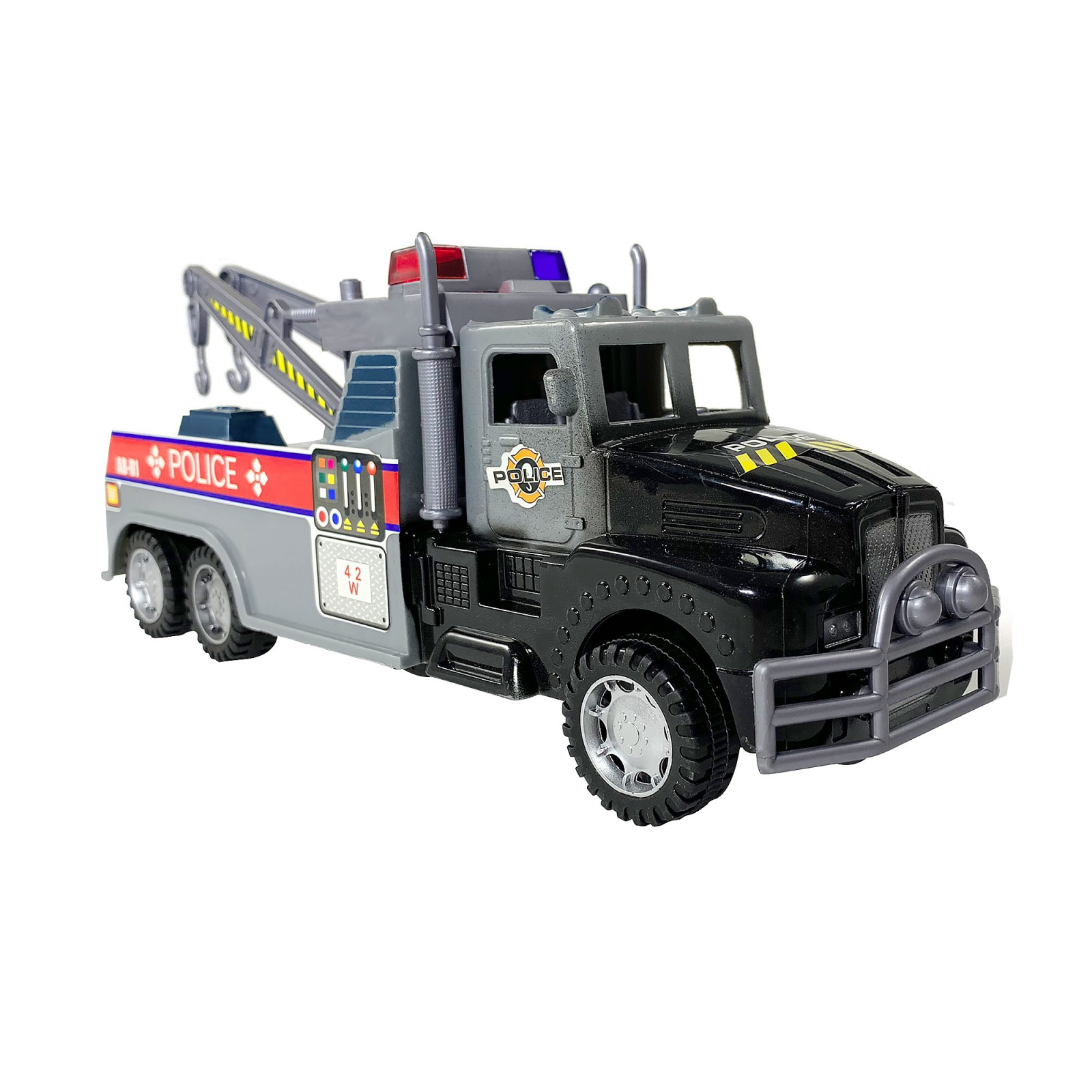 KidPlay Products Go Fast Police Impound Hauler - Black