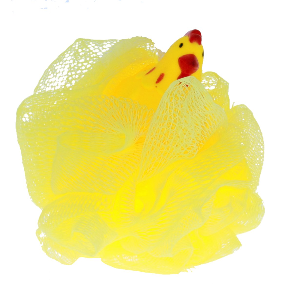 KidPlay Products - Rubber Animal Bath Scrubber - Yellow Chicken
