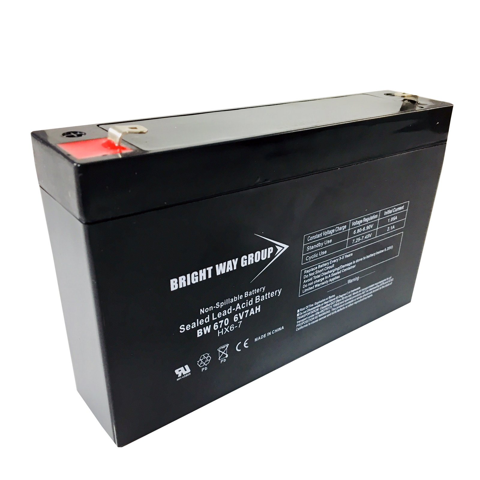 Best Ride On Cars 6 Volt 7Ah Battery Replacement for Kids Ride On Vehicles