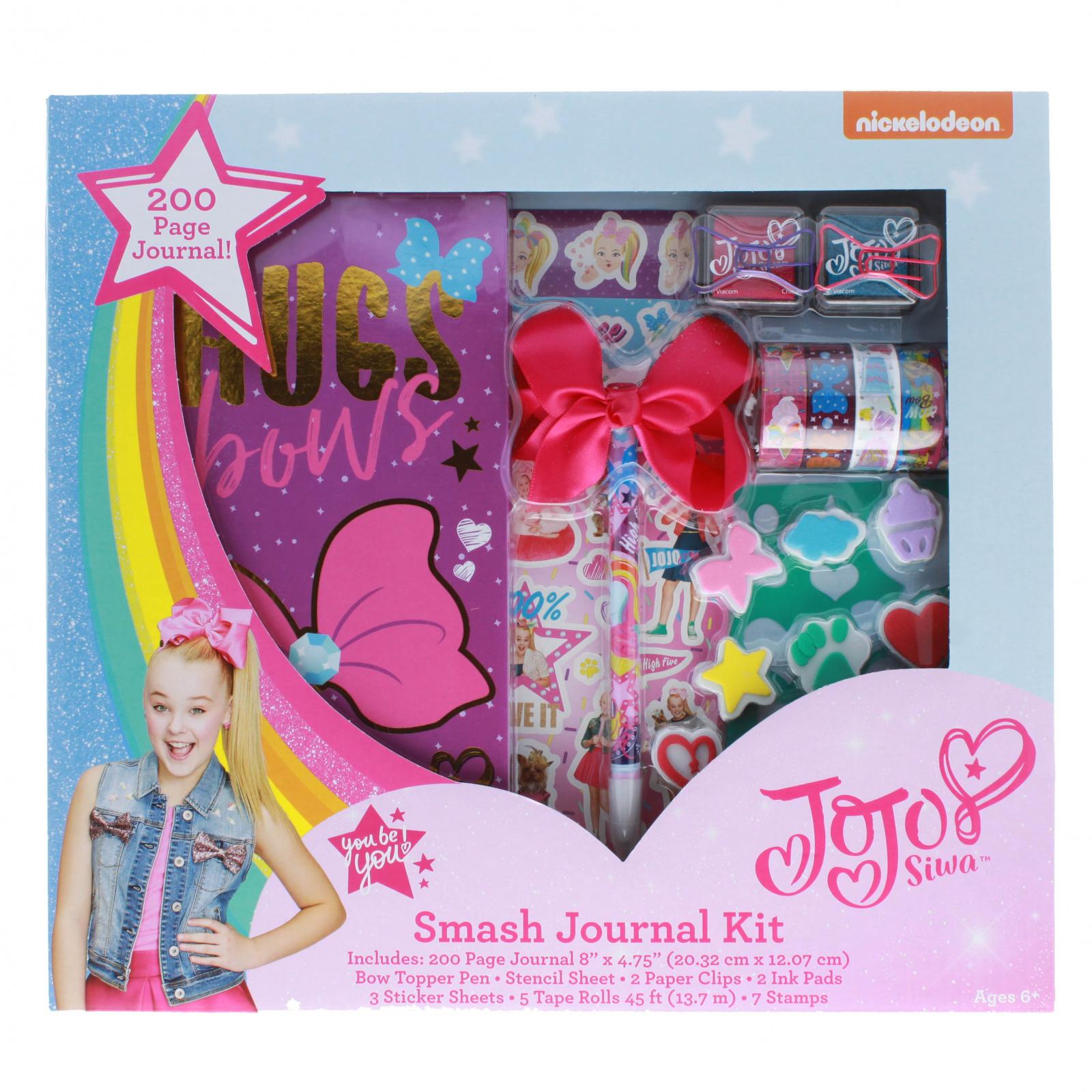 JoJo Siwa Girls Smash Journal Kit 200 Page Diary