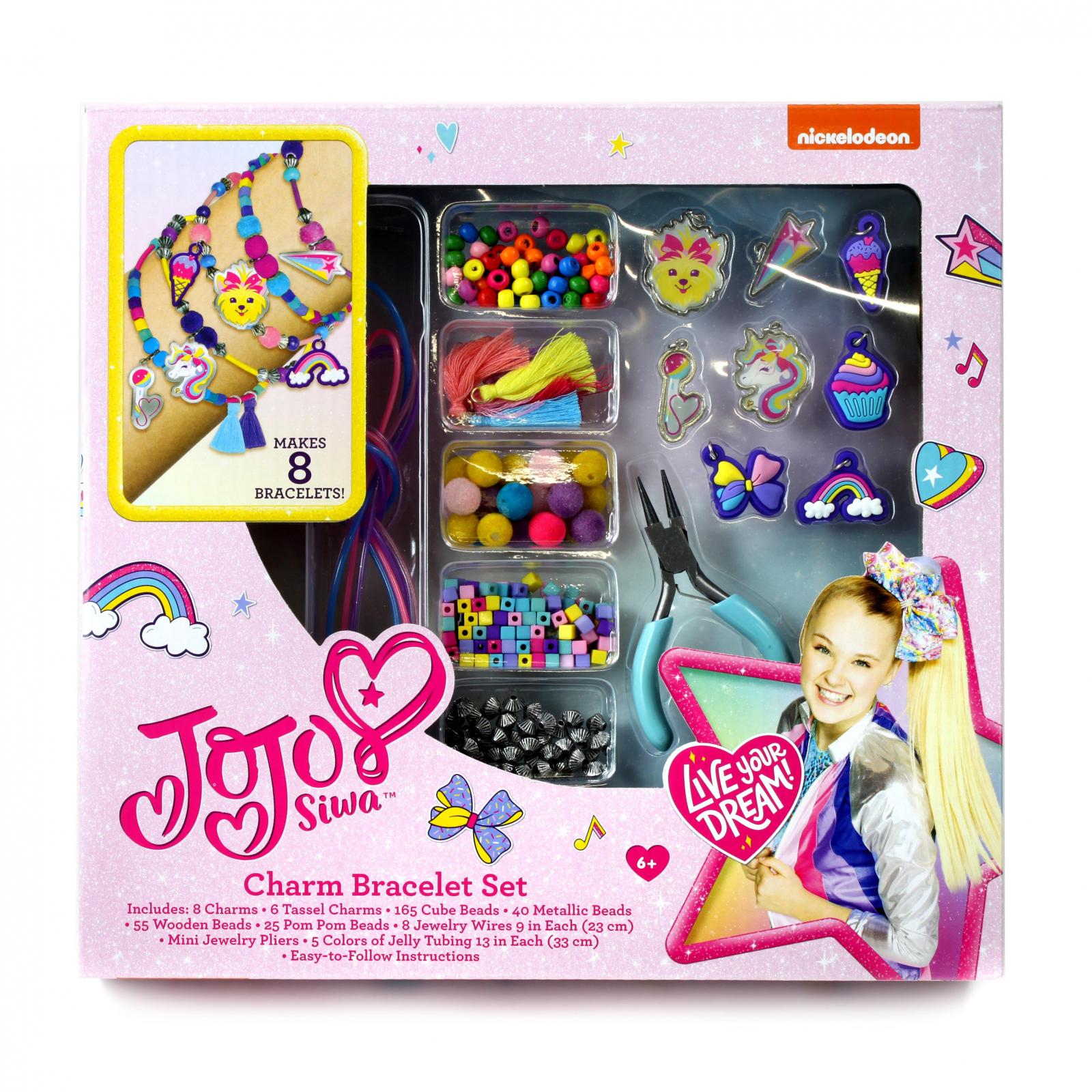 Nickelodeon Jojo Siwa Jewelry DIY Charm Bracelet Making Set