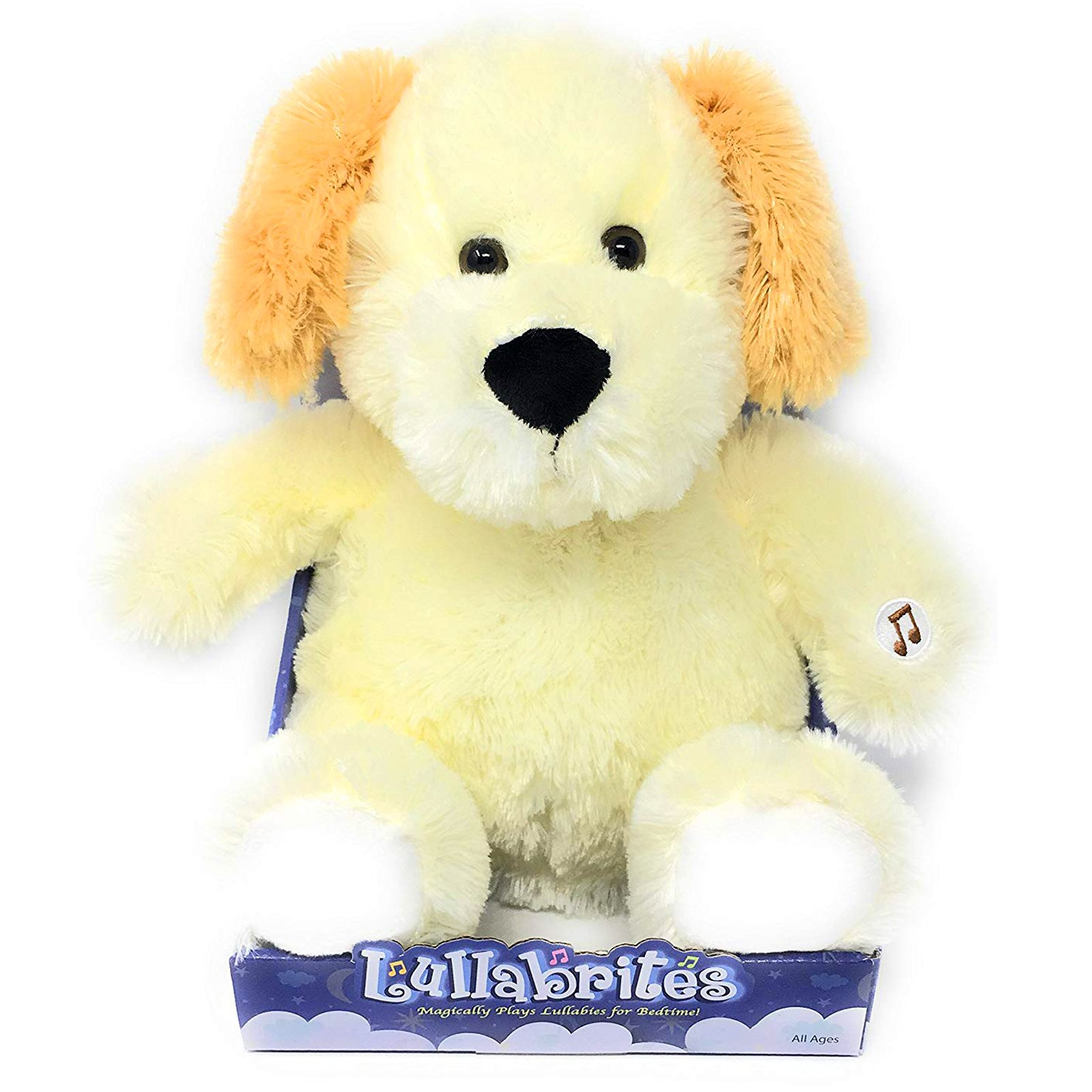 Lullabrites Kids Plush Dog Lights Up Plays Music