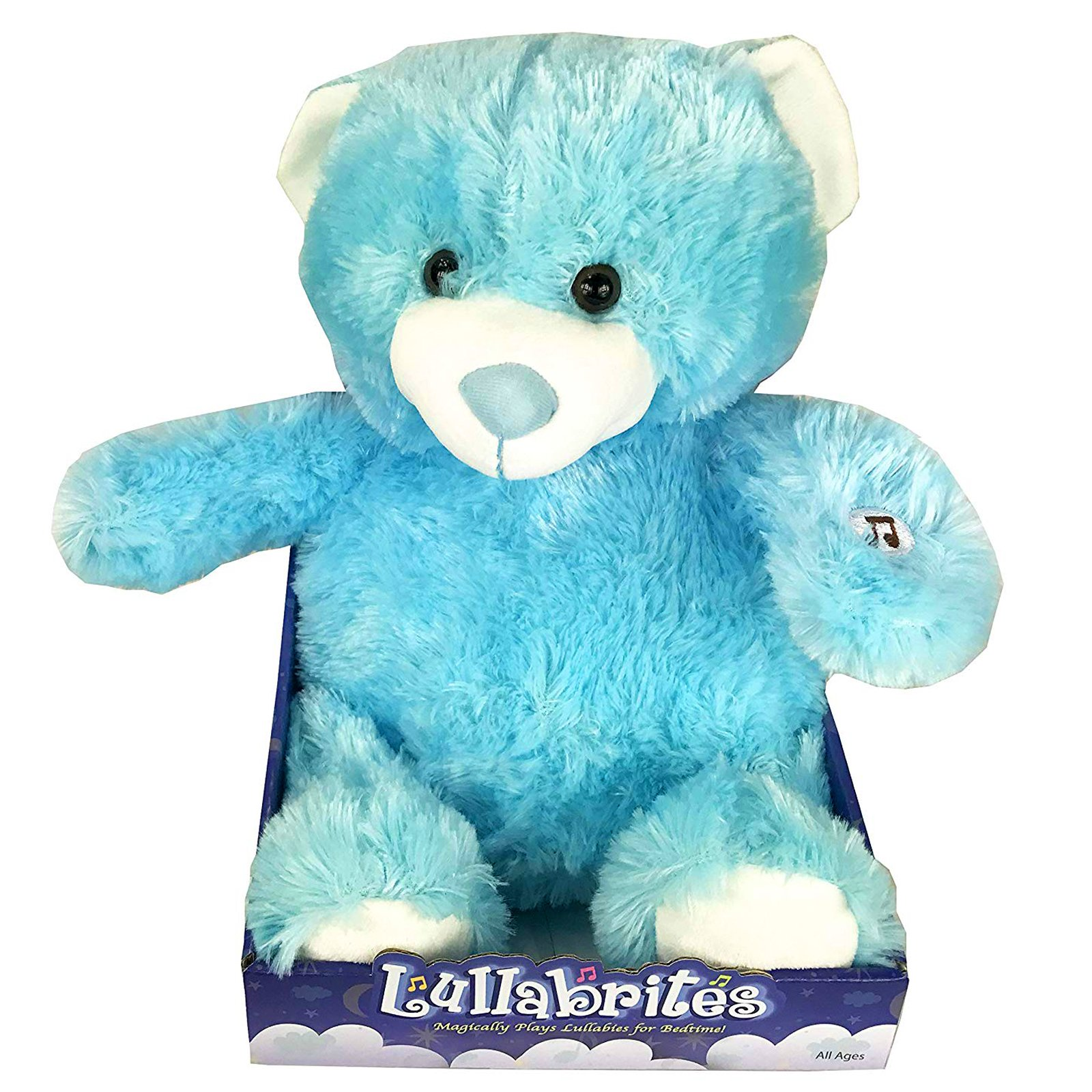 Lullabrites Kids Plush Blue Bear Lights Up Plays Bedtime Music As Seen On TV