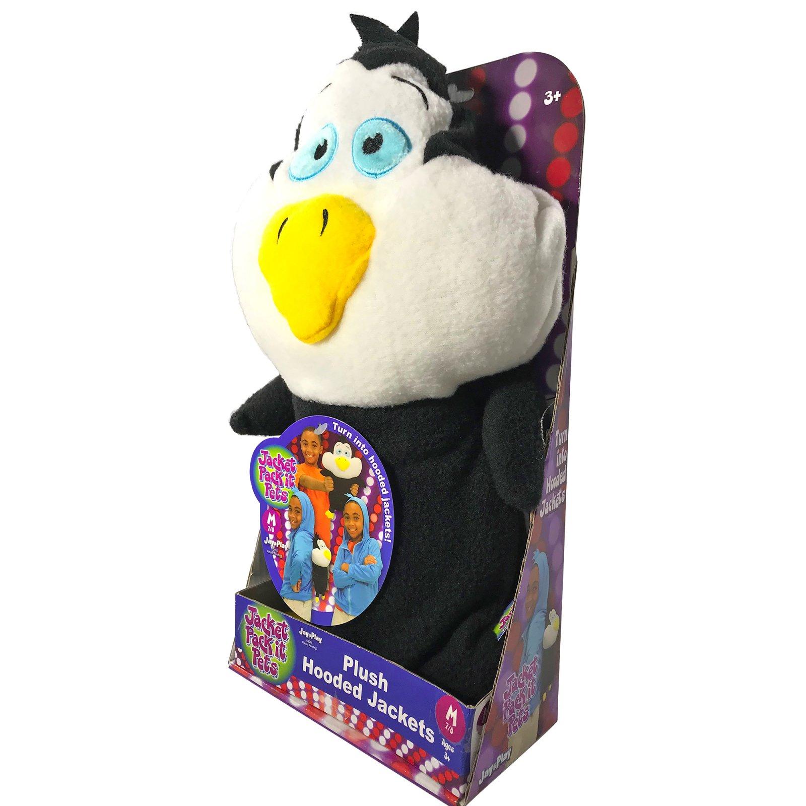 KidPlay Jacket Pack It Pets Penguin Plush Hooded Sweatshirt for Kids - Blue