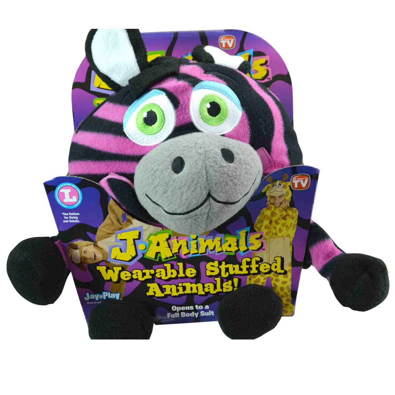 Snuggle time with Wearable Stuffed Animal Onesie Assorted Charaters