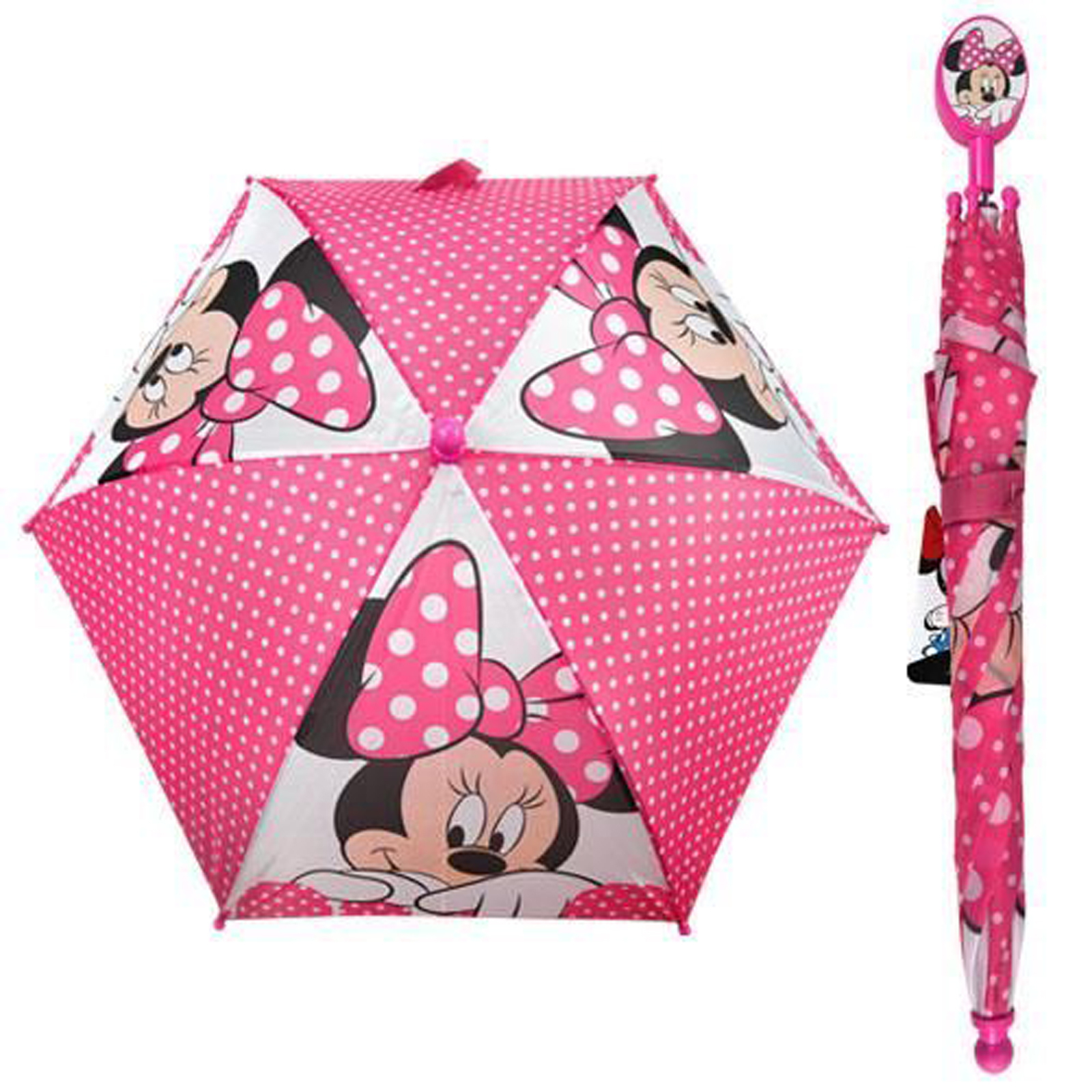 Minnie Mouse Kids Umbrella With Clamshell Handle