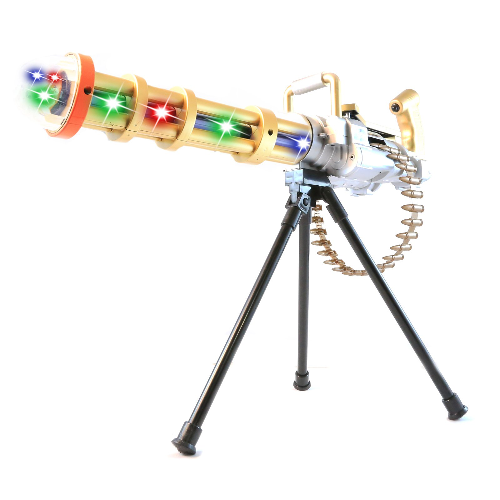 Elite Force Battery Operated Machine Gun Kids Toy Flashing Lights and Sound Gold