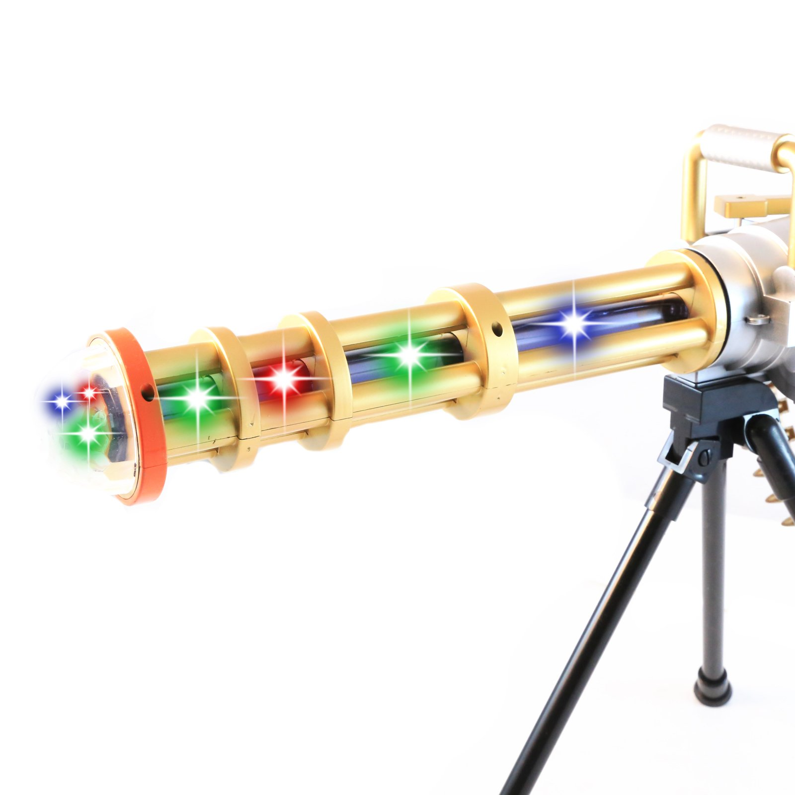 Musical Gatling Gun Toy Flashing Lights Pretend Play Gifts for Boys Black Friday Cyber Monday