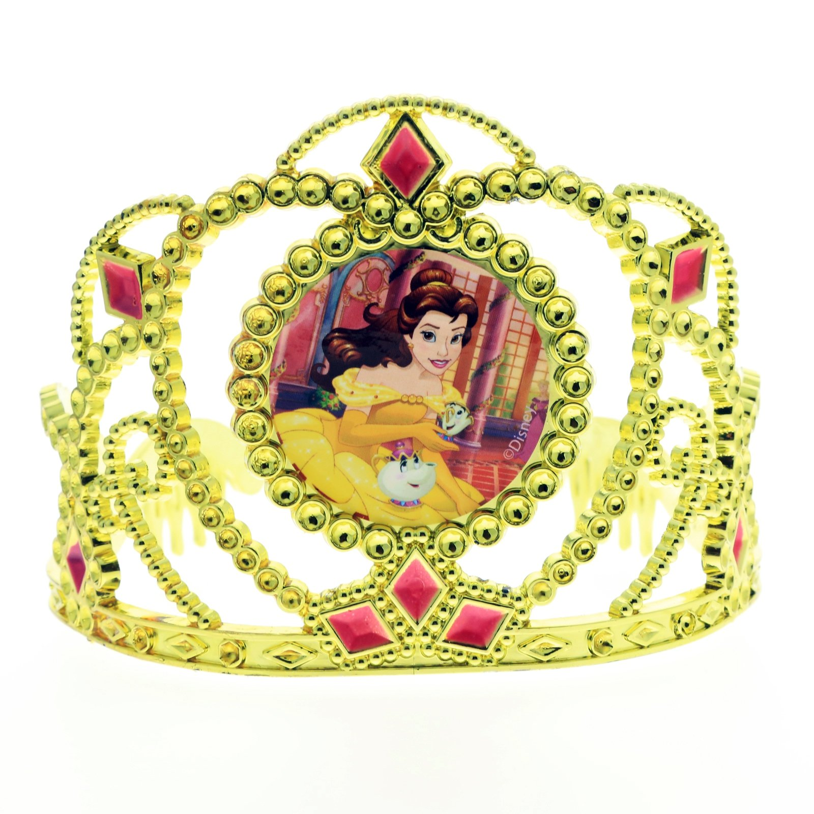 Disney Belle Girls Yellow Tiara Kids Hair Accessory Crown Beauty and the Beast
