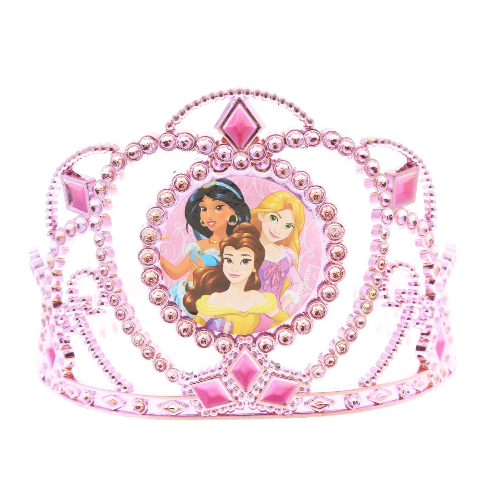 Disney Princess Girls Pink Tiara Kids Hair Accessory Crown Jasmine Belle