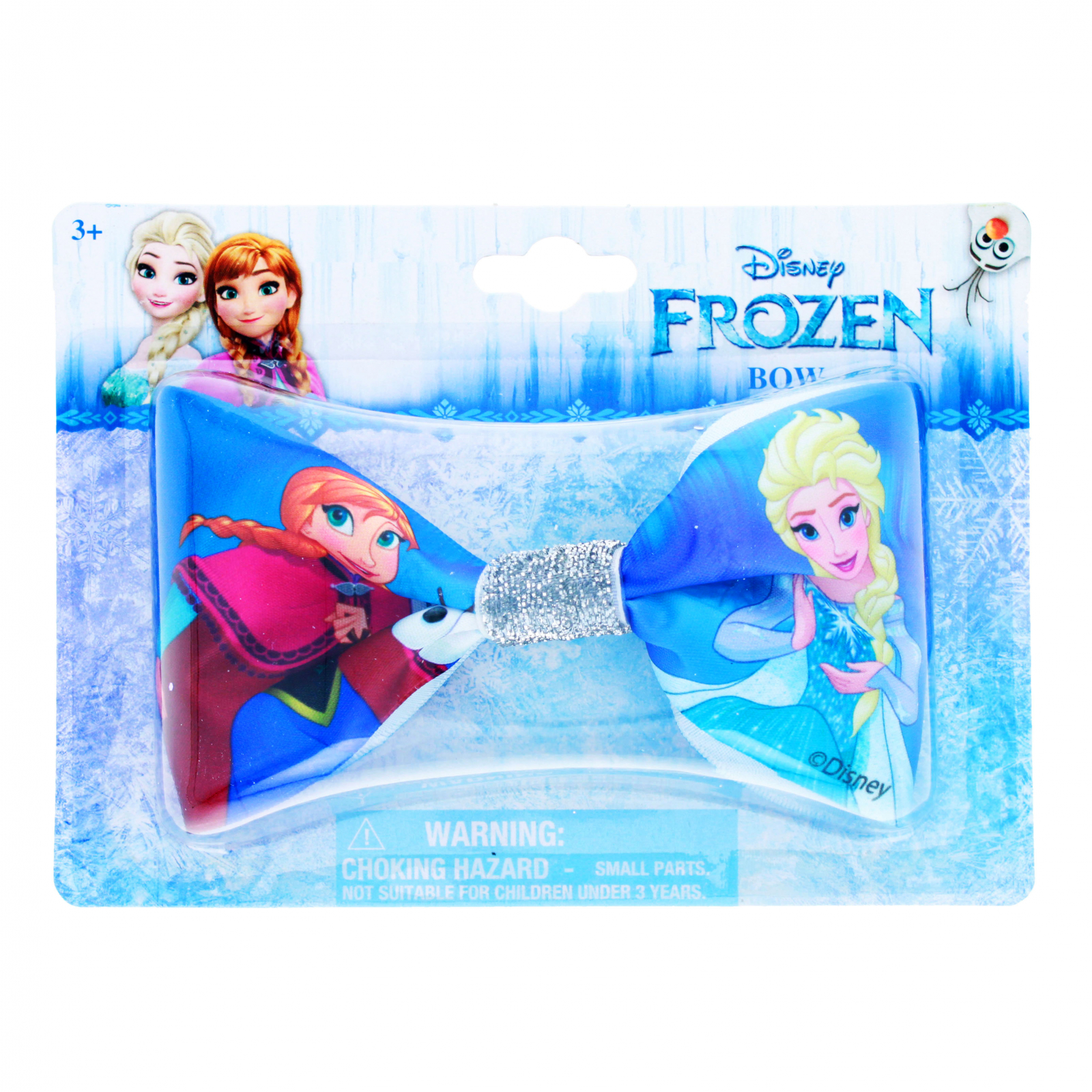 Disney Frozen 2 Girls Hair Bow Clip with Sparkle Center