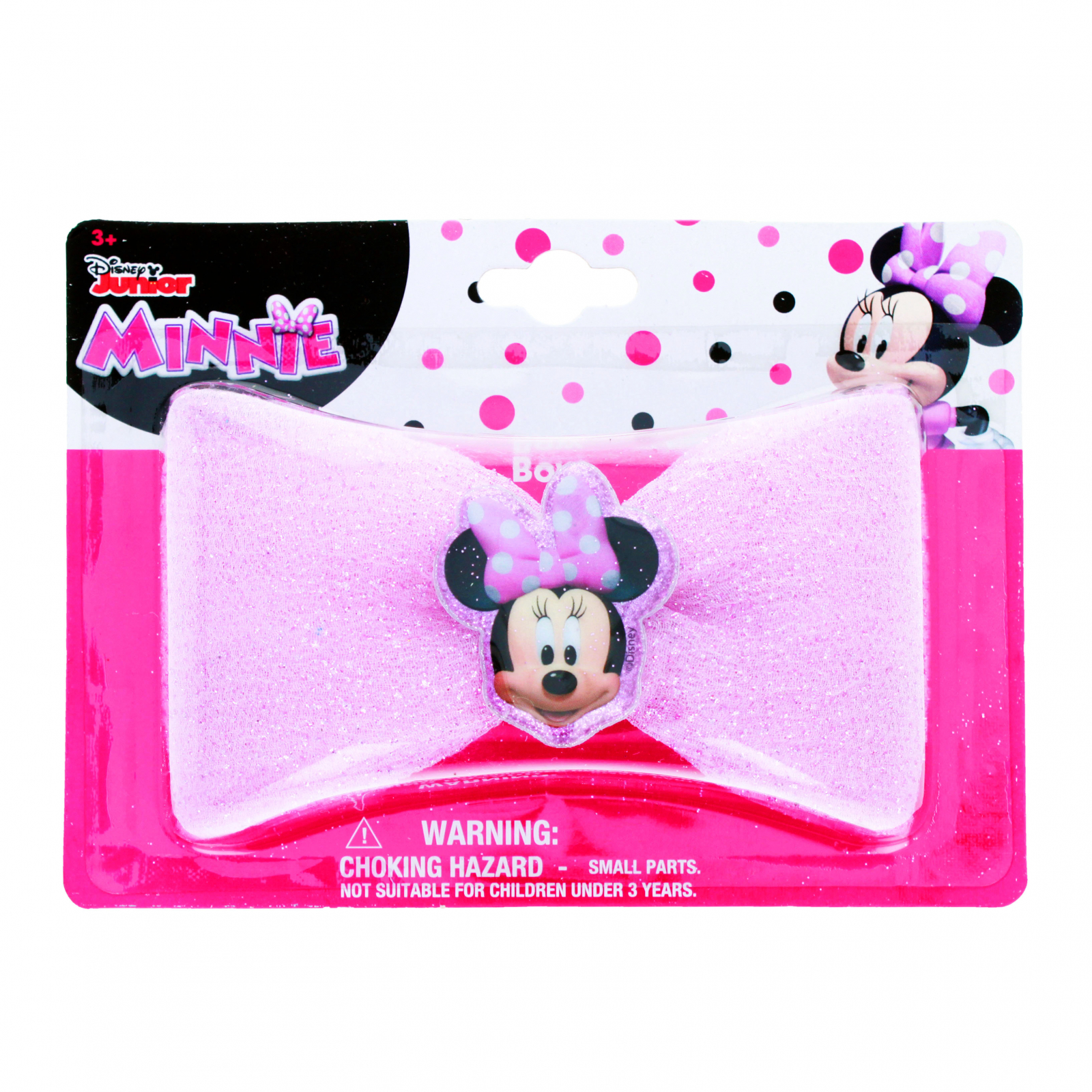 Disney Minnie Mouse Girls Hair Bow Clip with Sparkle Center