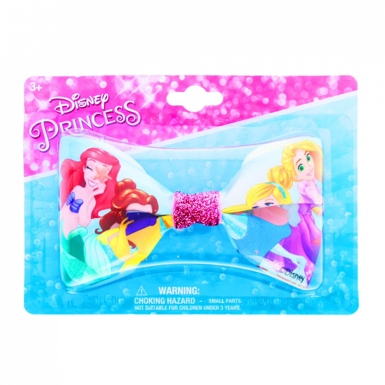 Disney Princess Girls Hair Bow Clip with Sparkle Center