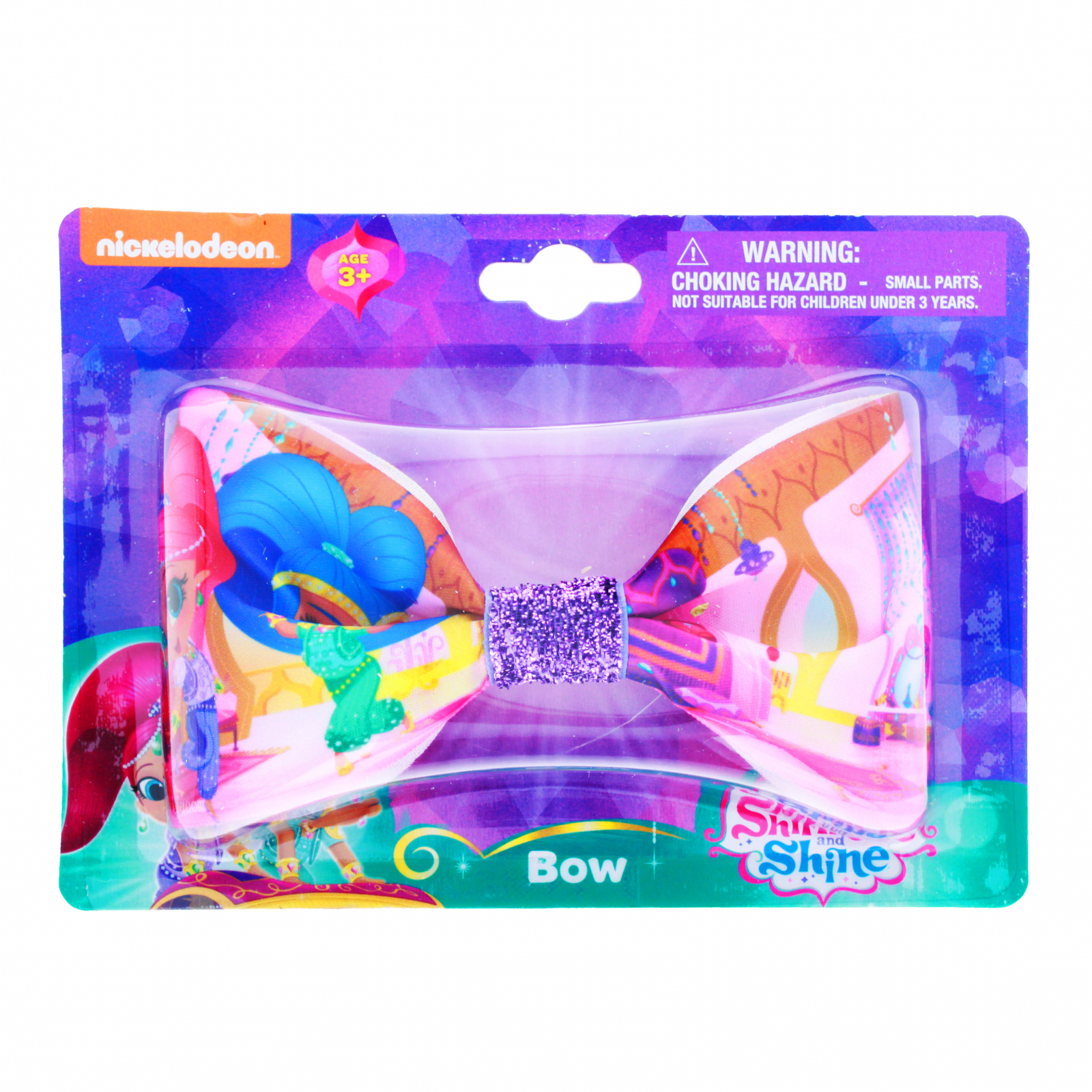 Shimmer and Shine Girls Hair Bow Clip with Sparkle Center